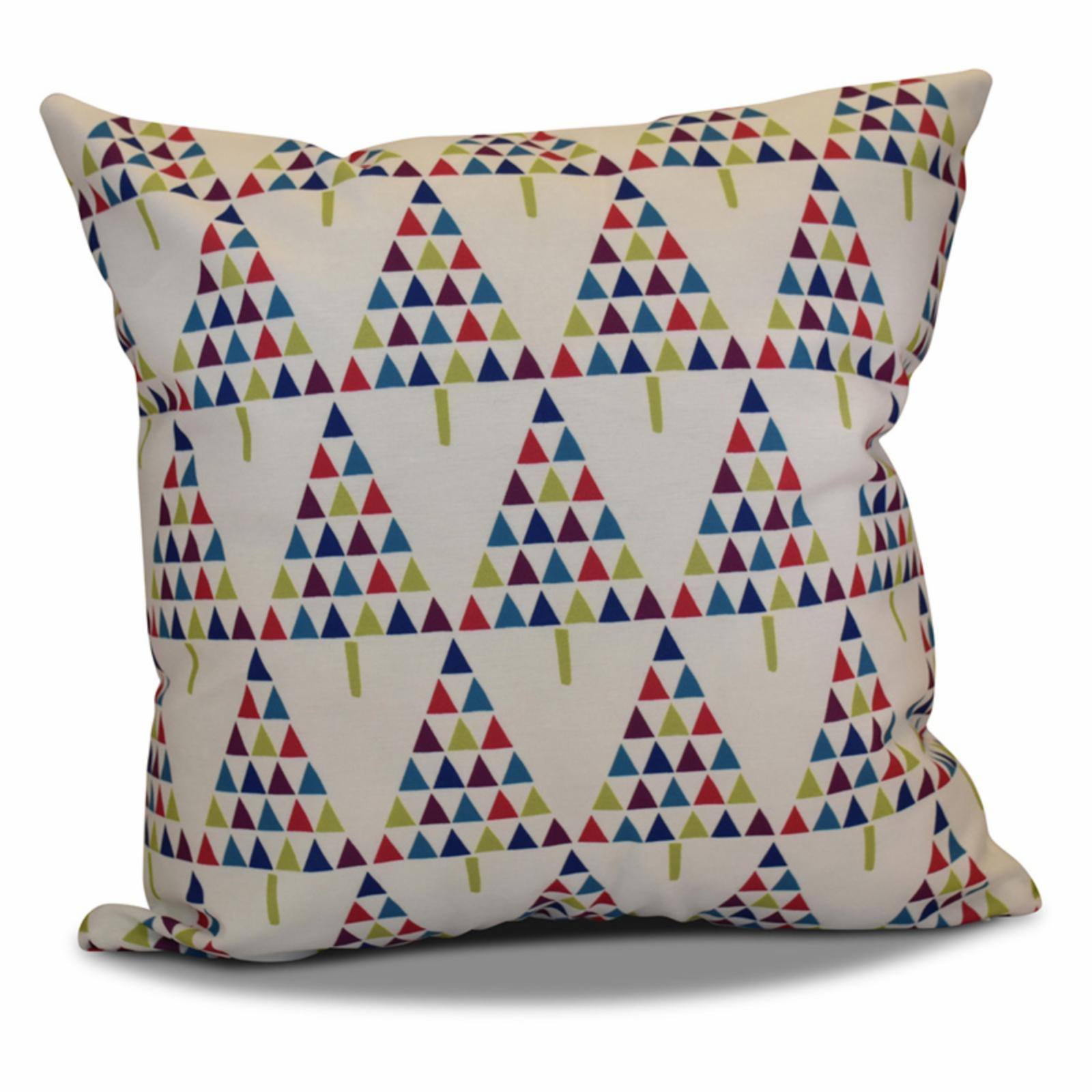 e by design jump for joy triangle trees geometric print o