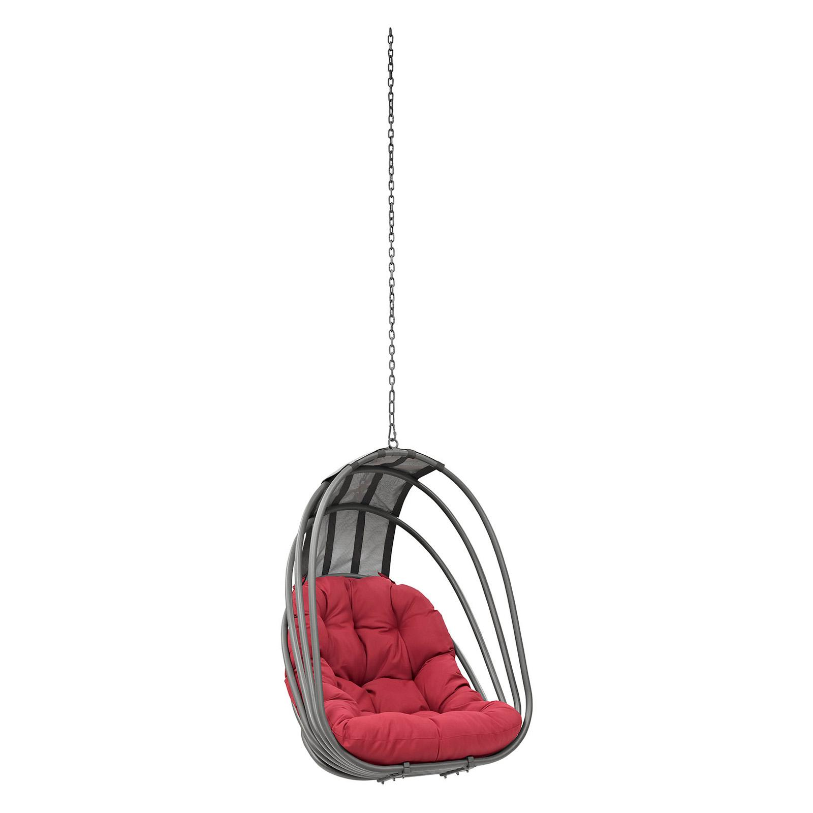 Outdoor Modway Whisk Patio Swing Chair Red - EEI-2656-RED...