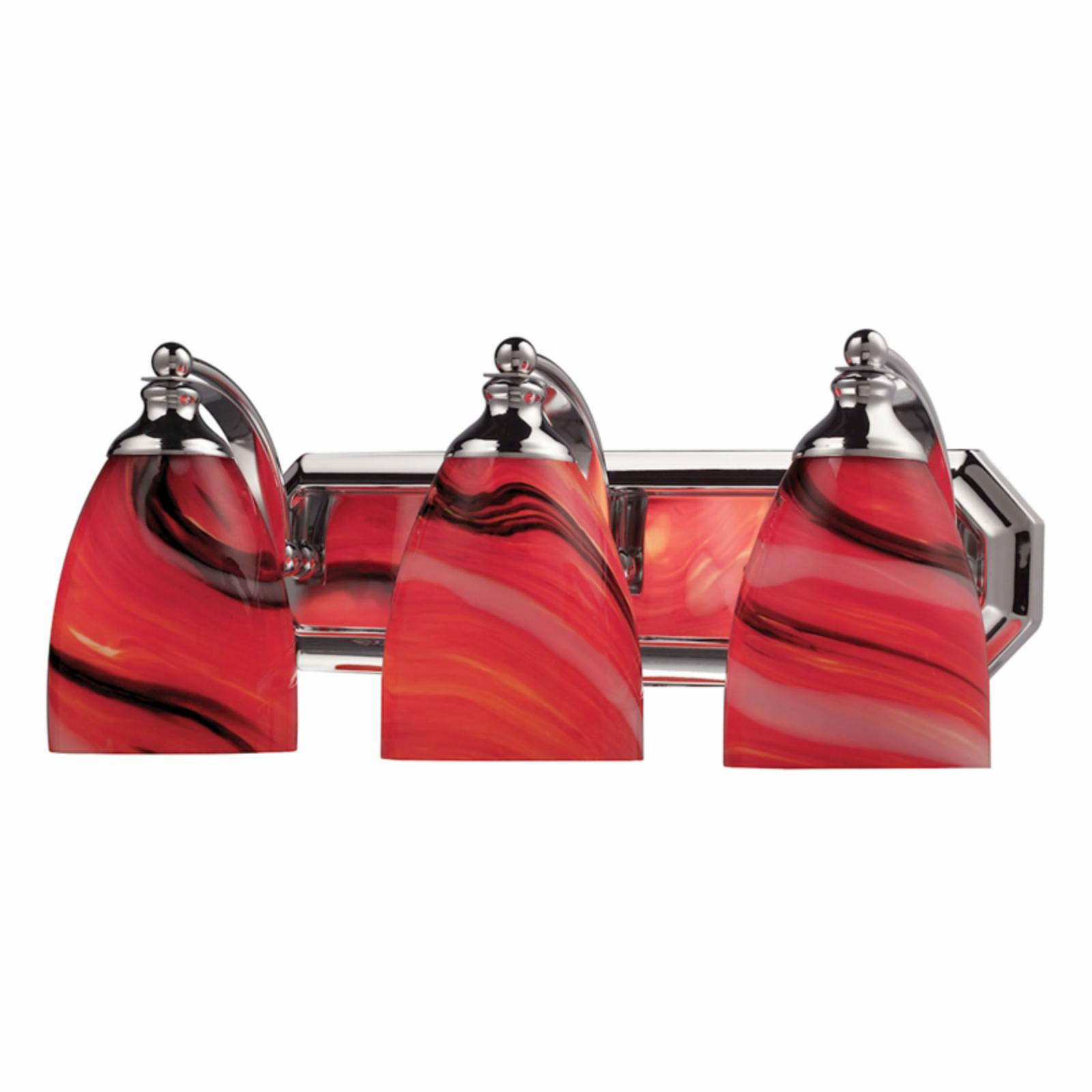 Elk Lighting Bath and Spa 570-3 Bathroom Vanity Light with Candy Glass Polished Chrome - 570-3C-CY-LED