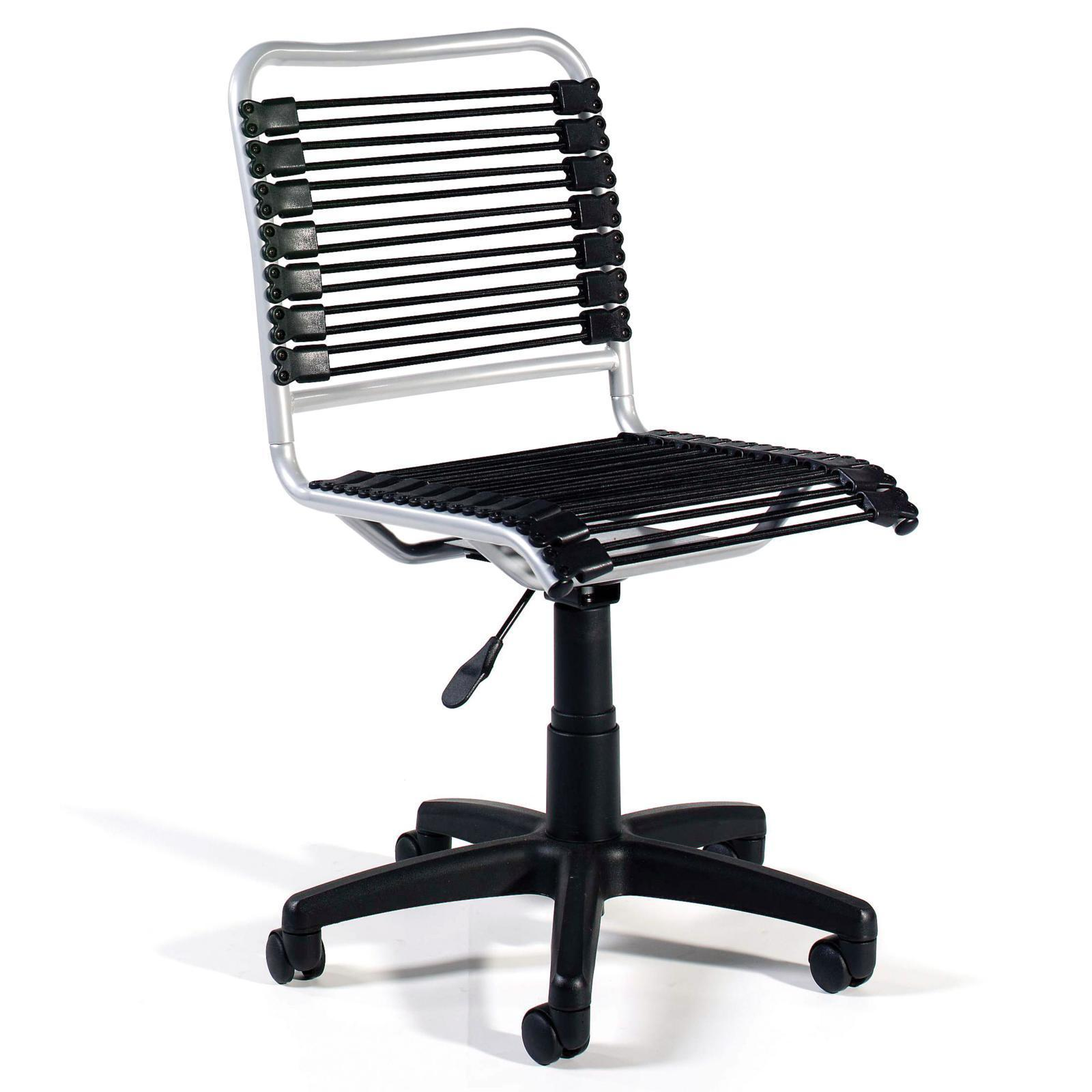 Euro Style Bungie Low Back Office Chair Black Graphite Eus1236 1