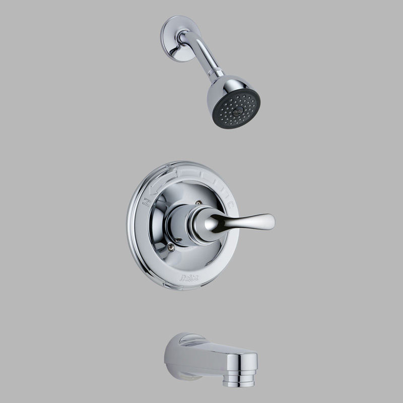 Delta Classic Chrome Finish Single Handle Tub and Shower Faucet Trim ...