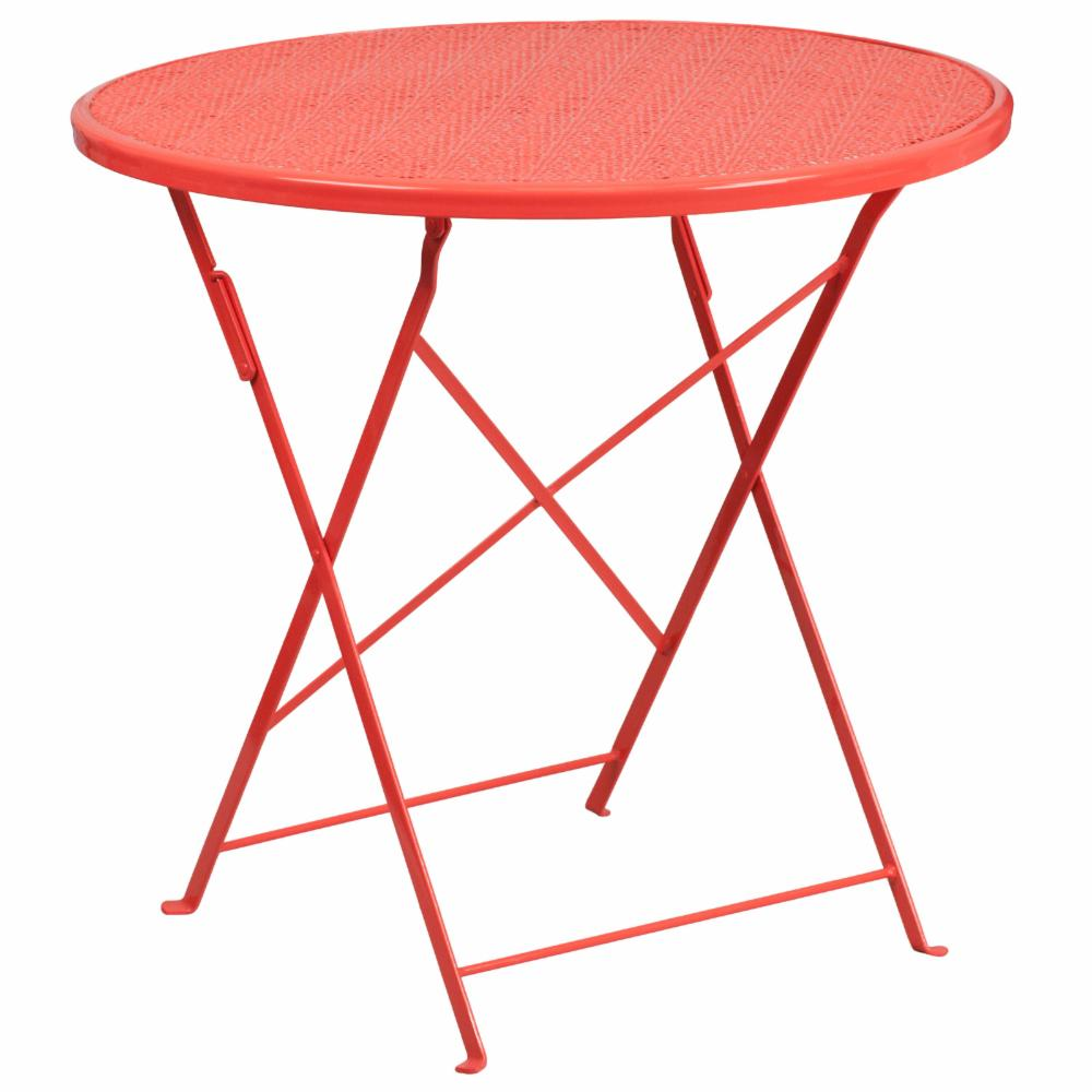 Flash Furniture Steel Round Folding Patio Dining Table