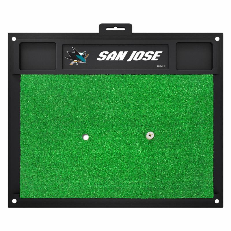 Fanmats NHL San Jose Sharks Golf Hitting Mats - Green/Black (20