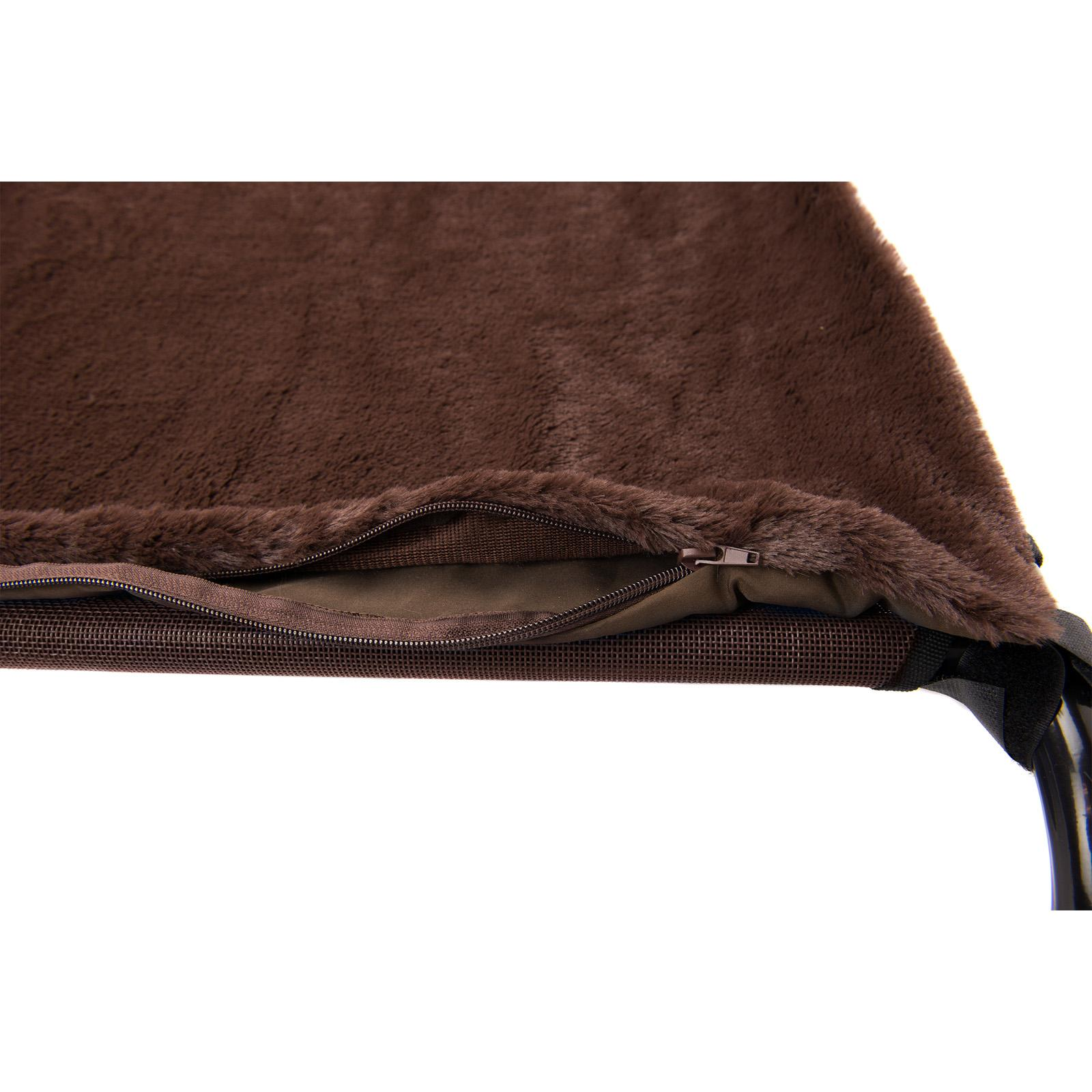 FurHaven Plush Blanket Accessory for Elevated Pet Cot 5636601 Size: Small, Color: Espresso
