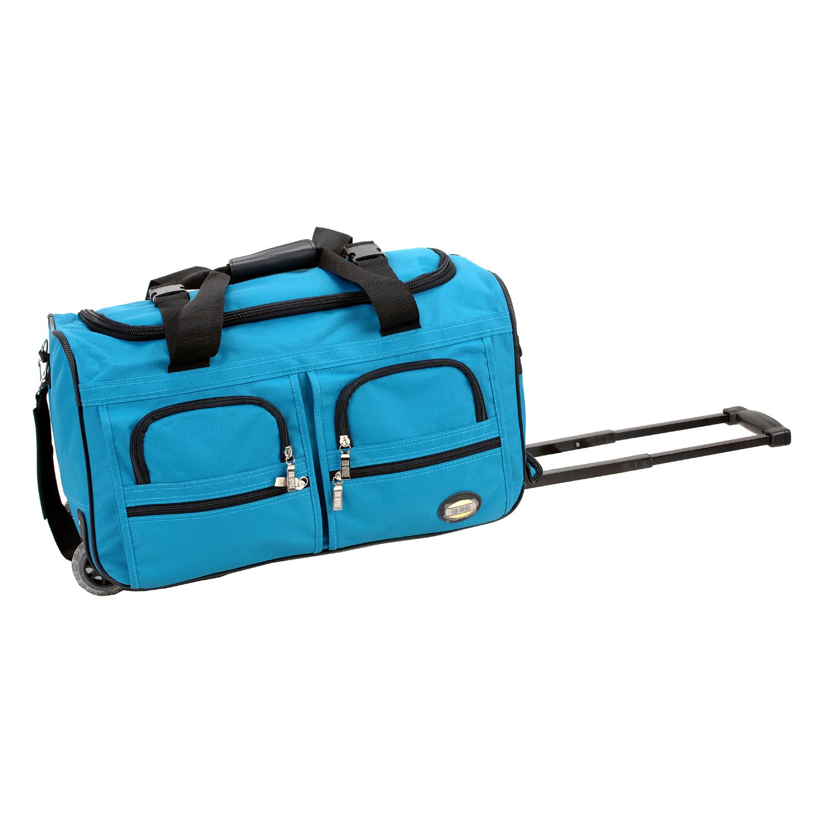 Rockland Luggage 22 in. Rolling Duffle Bag Turquoise - PR...