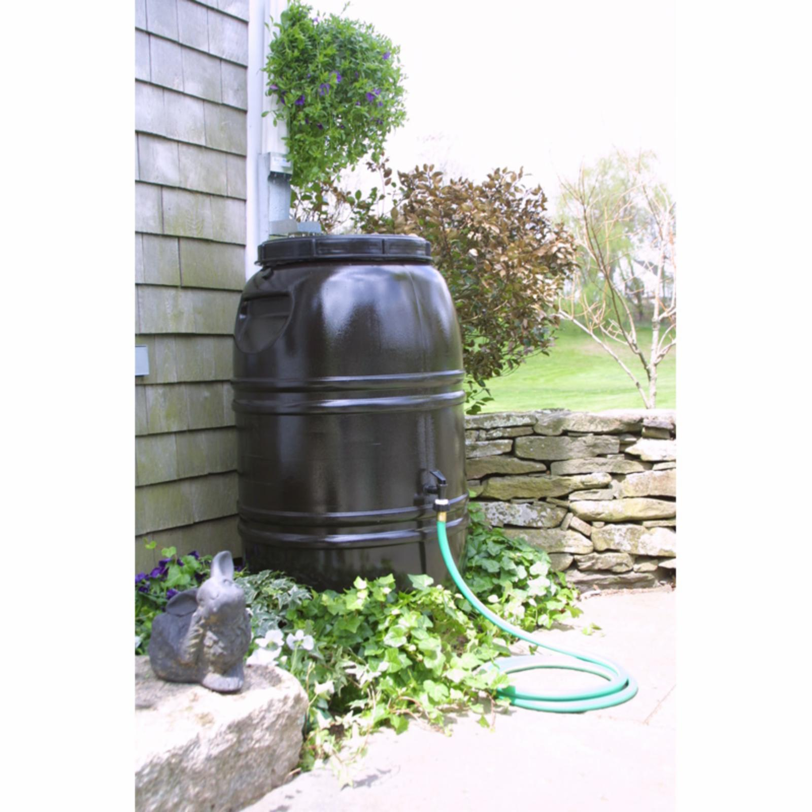 Great American 60 Gallon Rain Barrel with Large Diverter Brown - RET-BRN-BLG