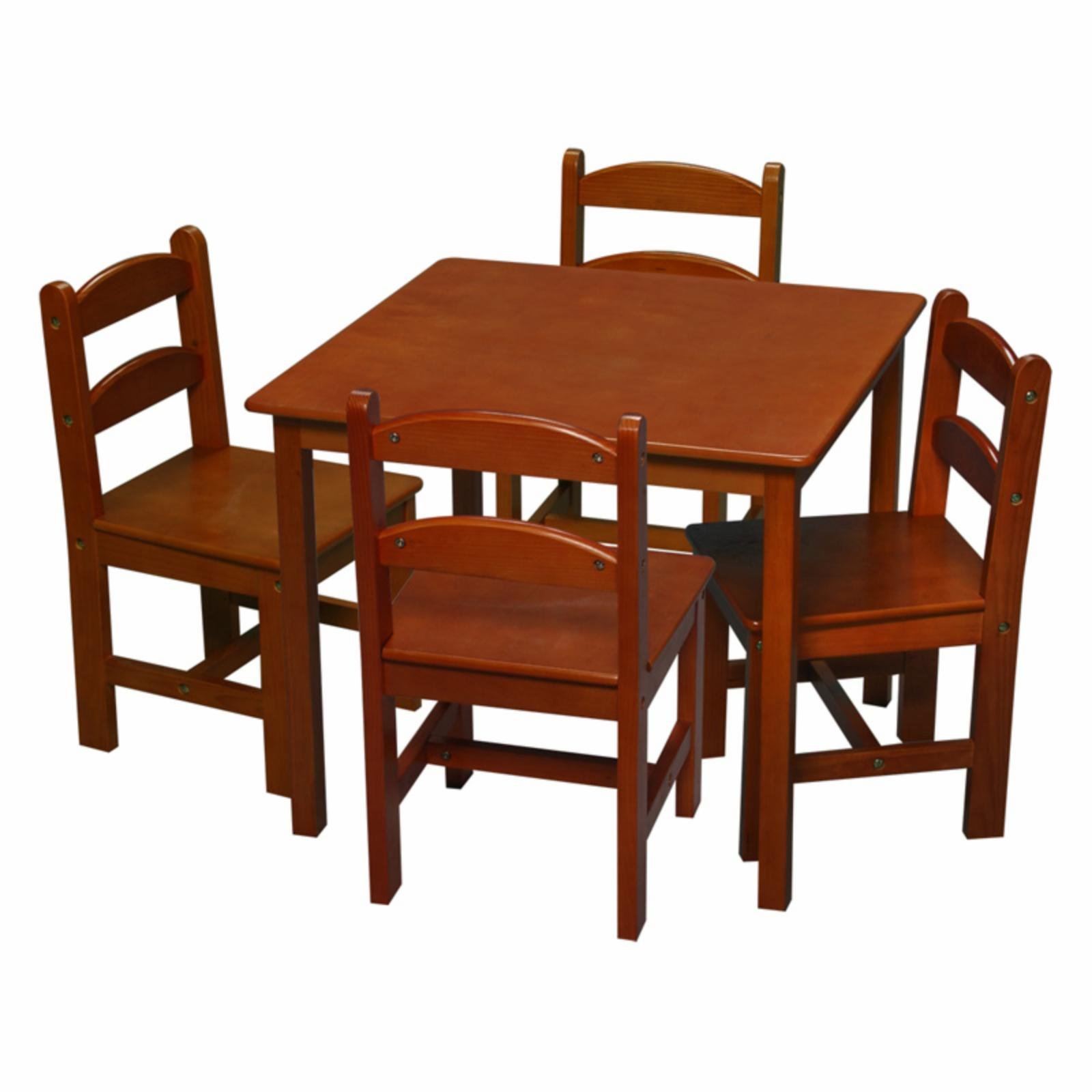 Gift Mark Square Table and Chair Set - 5 Piece - 3008H