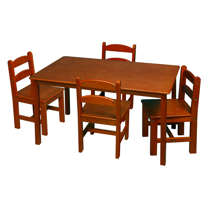 Gift Mark Rectangle Table and Chair Set 5 Piece