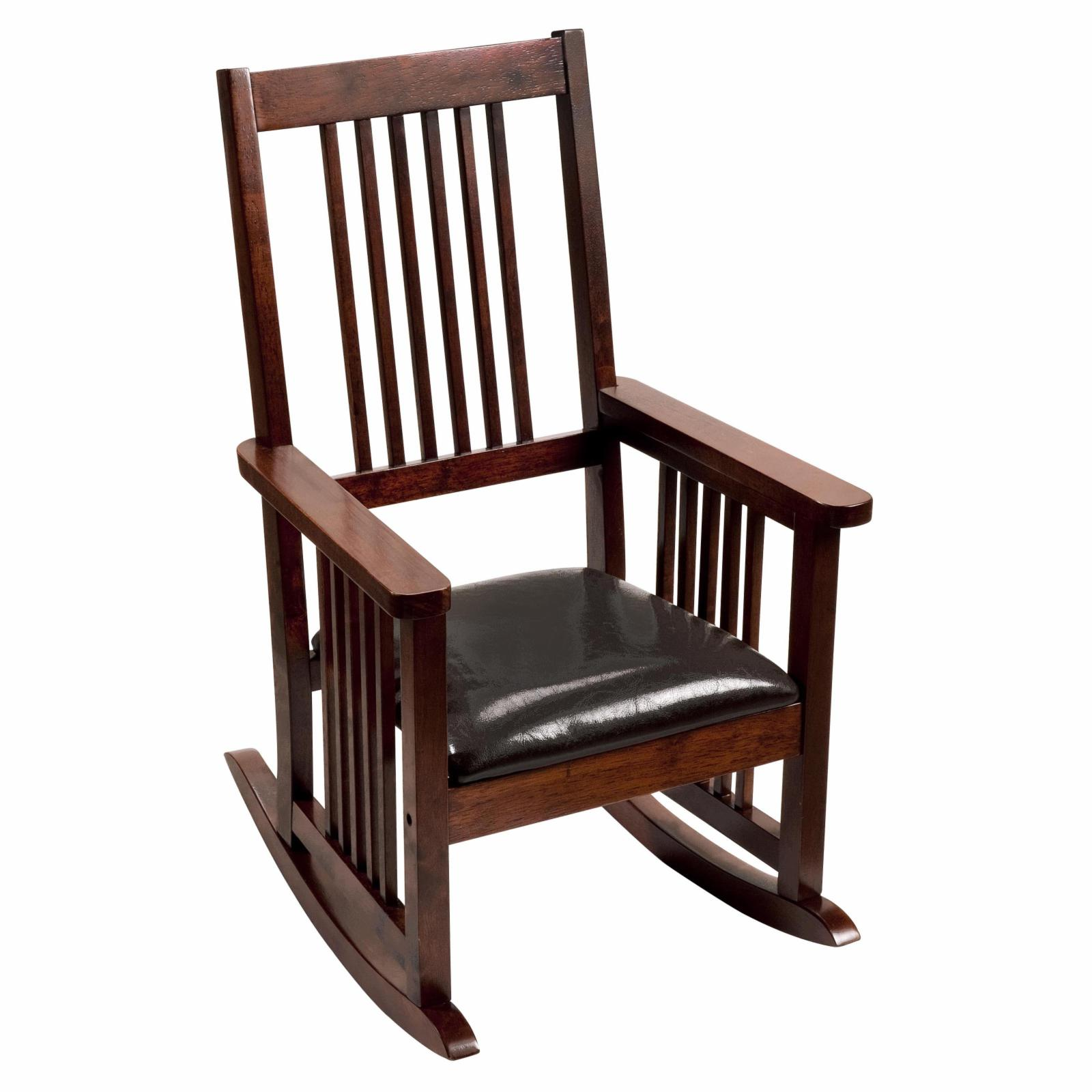 GiftMark Mission Style Childrens Rocking Chair with Uphol...