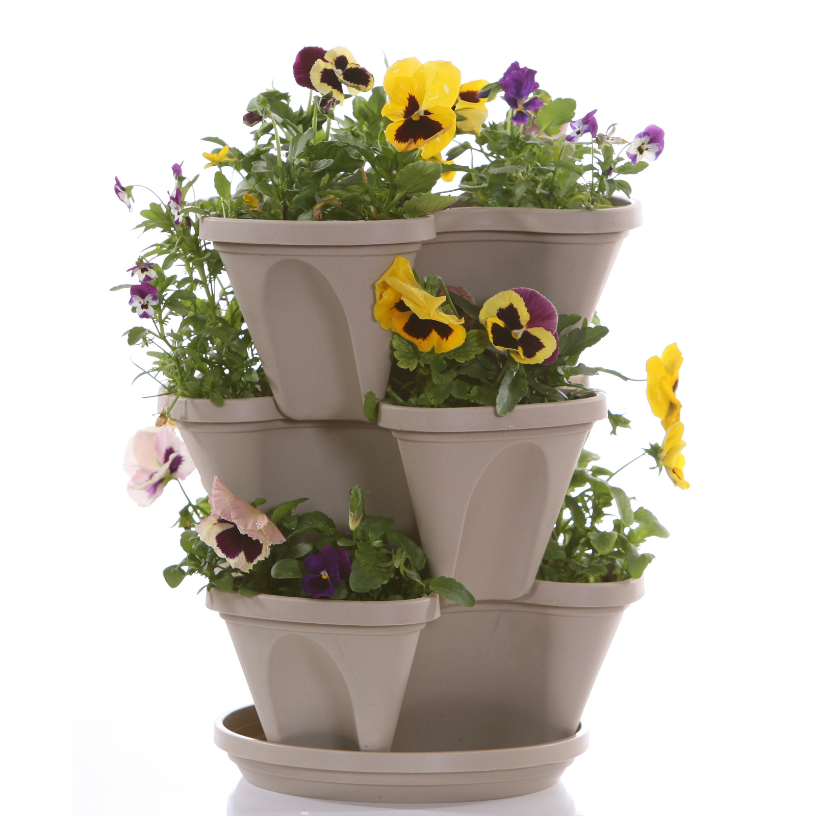 Nancy janes p1360 12-inch stacking planters with patented fl.