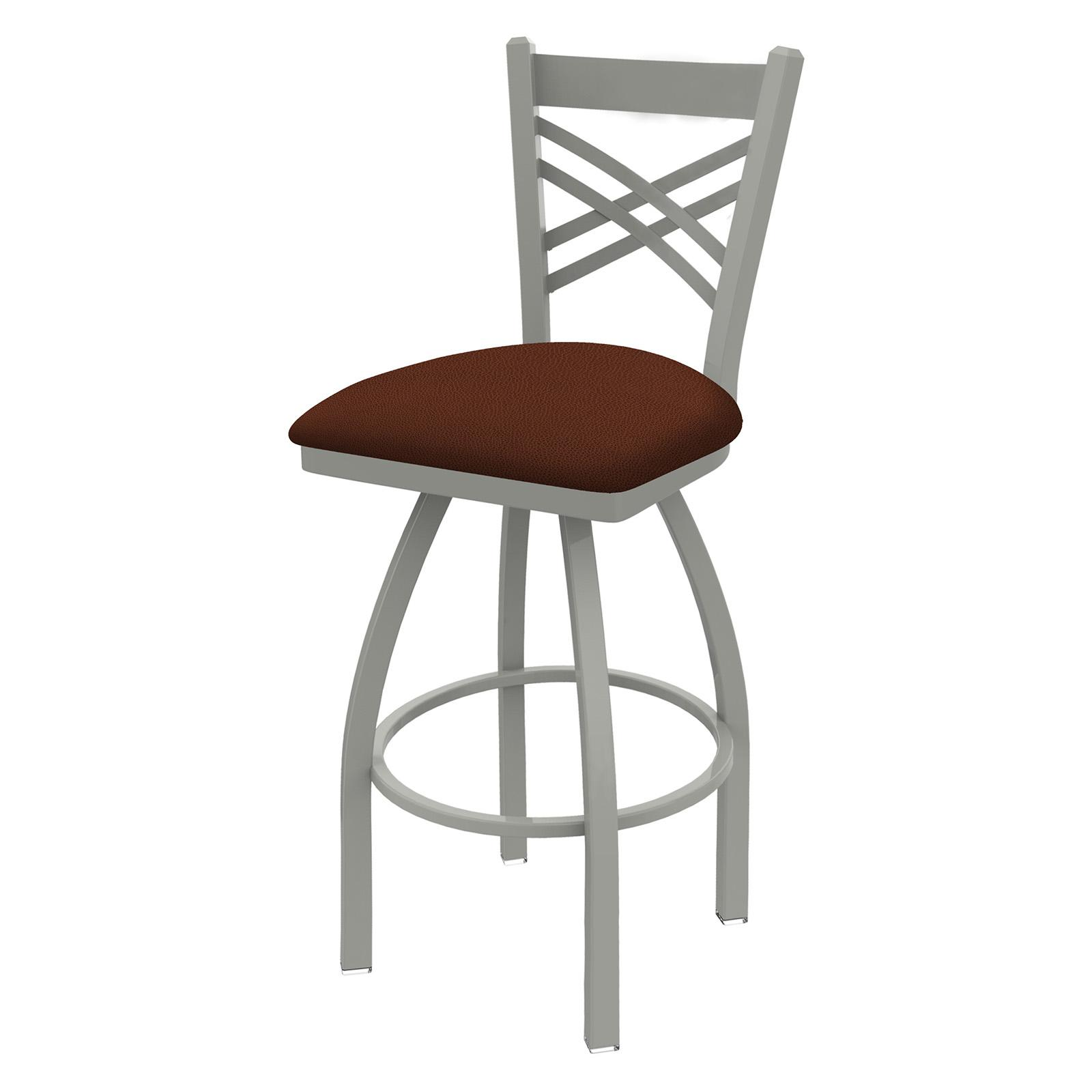 Holland Bar Stool Catalina 25 in. Metal Swivel Counter Stool with Faux Leather Seat Rein Adobe - 82025ANREIADO
