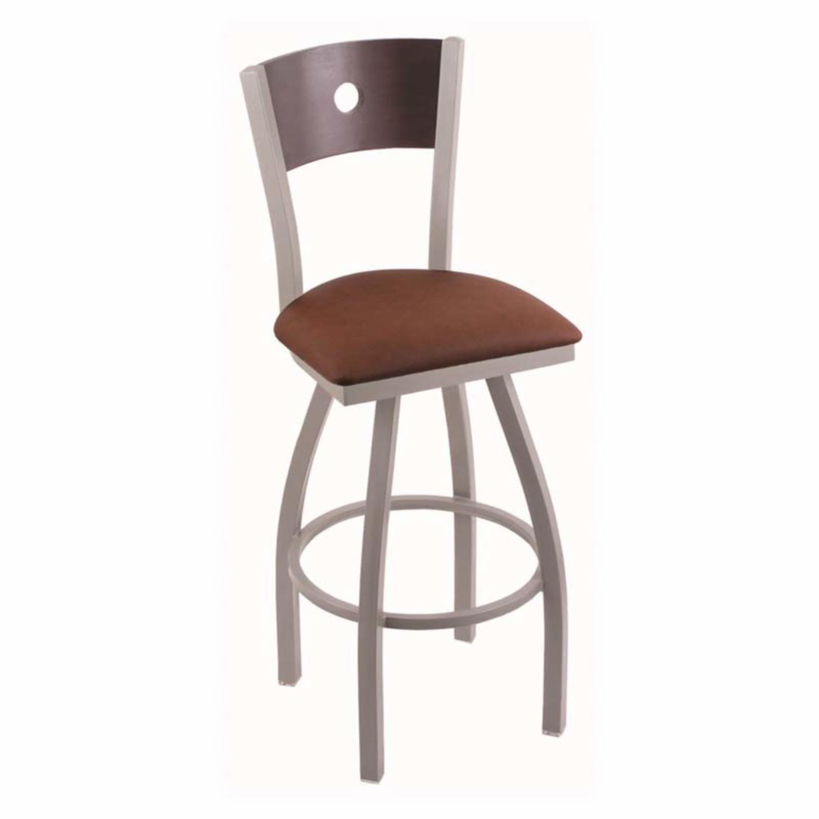 Holland Bar Stool Voltaire 25 in. Metal Swivel Counter Stool with Faux Leather Seat Medium Maple Rein Adobe - 83025BWMEDMPLBREIADO