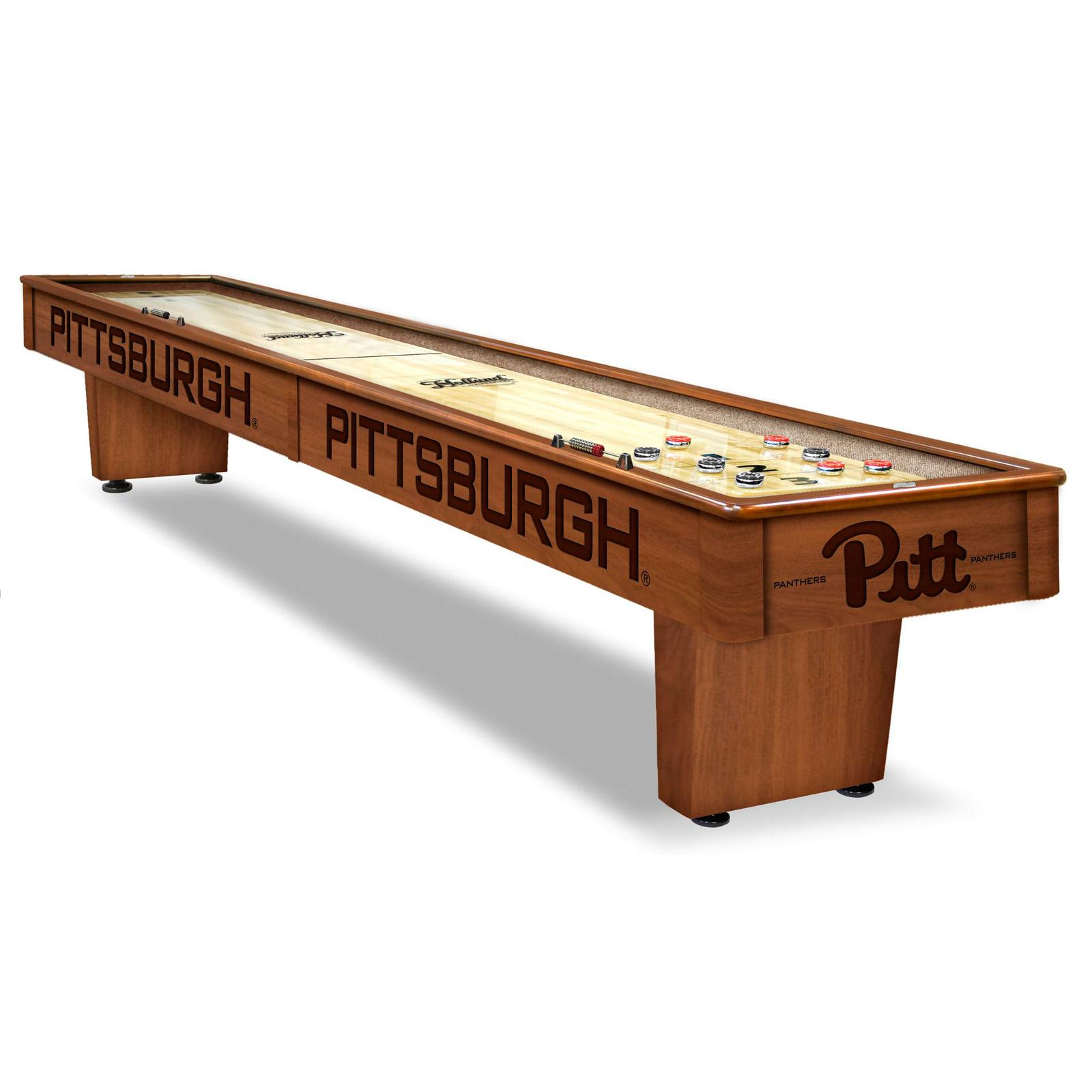 Holland 12 ft. College Shuffleboard Table - SB12CHRDPITTSB