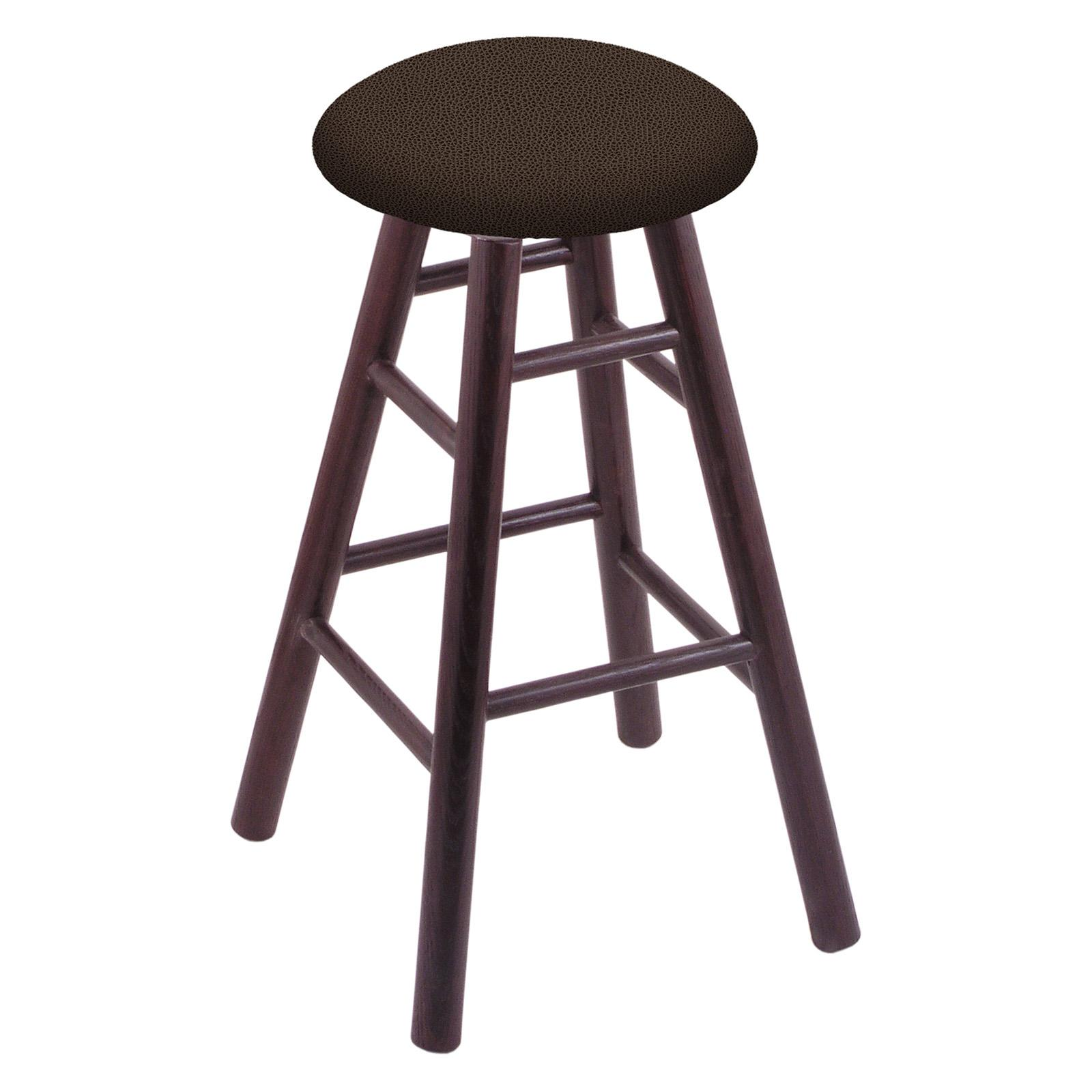 Holland Oak Stool with Smooth Legs and Faux Leather Seat Rein Coffee - RC24OSDCREICOF