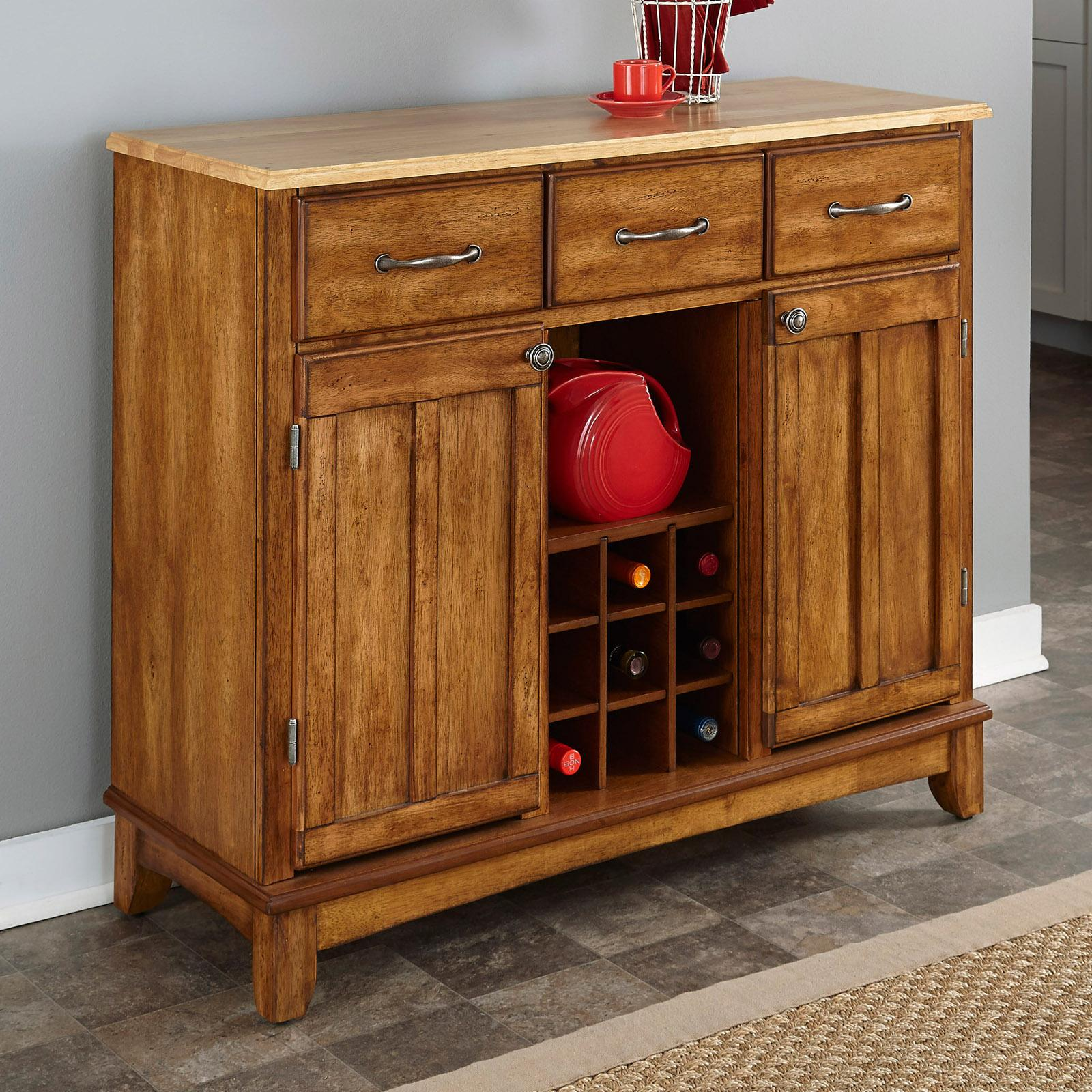 Home Styles Large Wood Server Kitchen Island / Server wit...