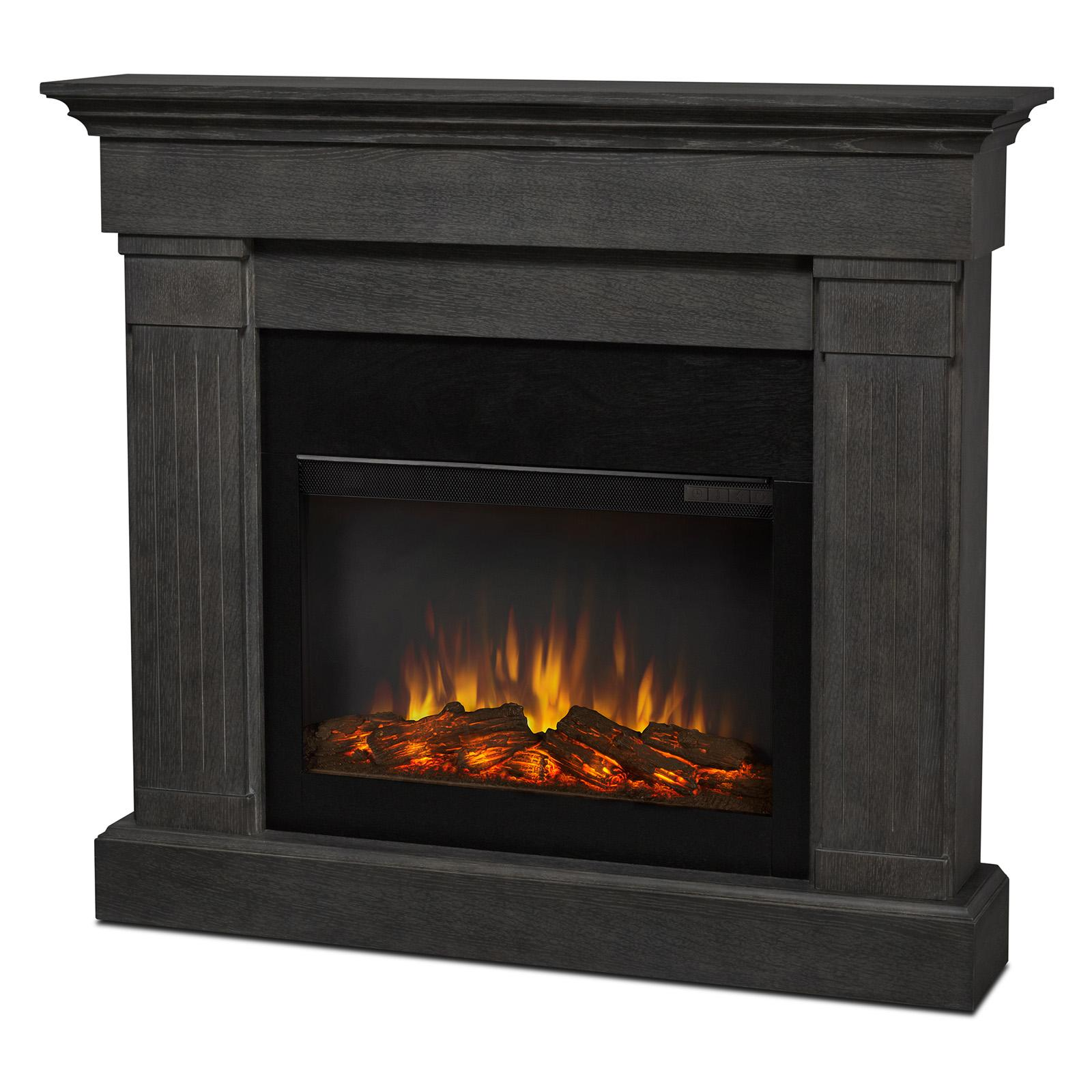 Real Flame Crawford Slim Line Electric Fireplace - 8020E-GRY