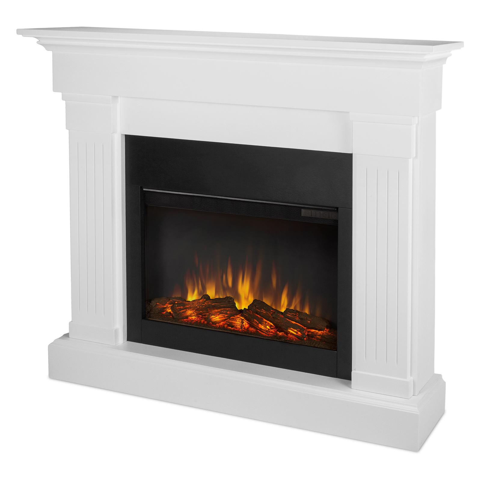 Real Flame Crawford Slim Line Electric Fireplace - 8020E-W