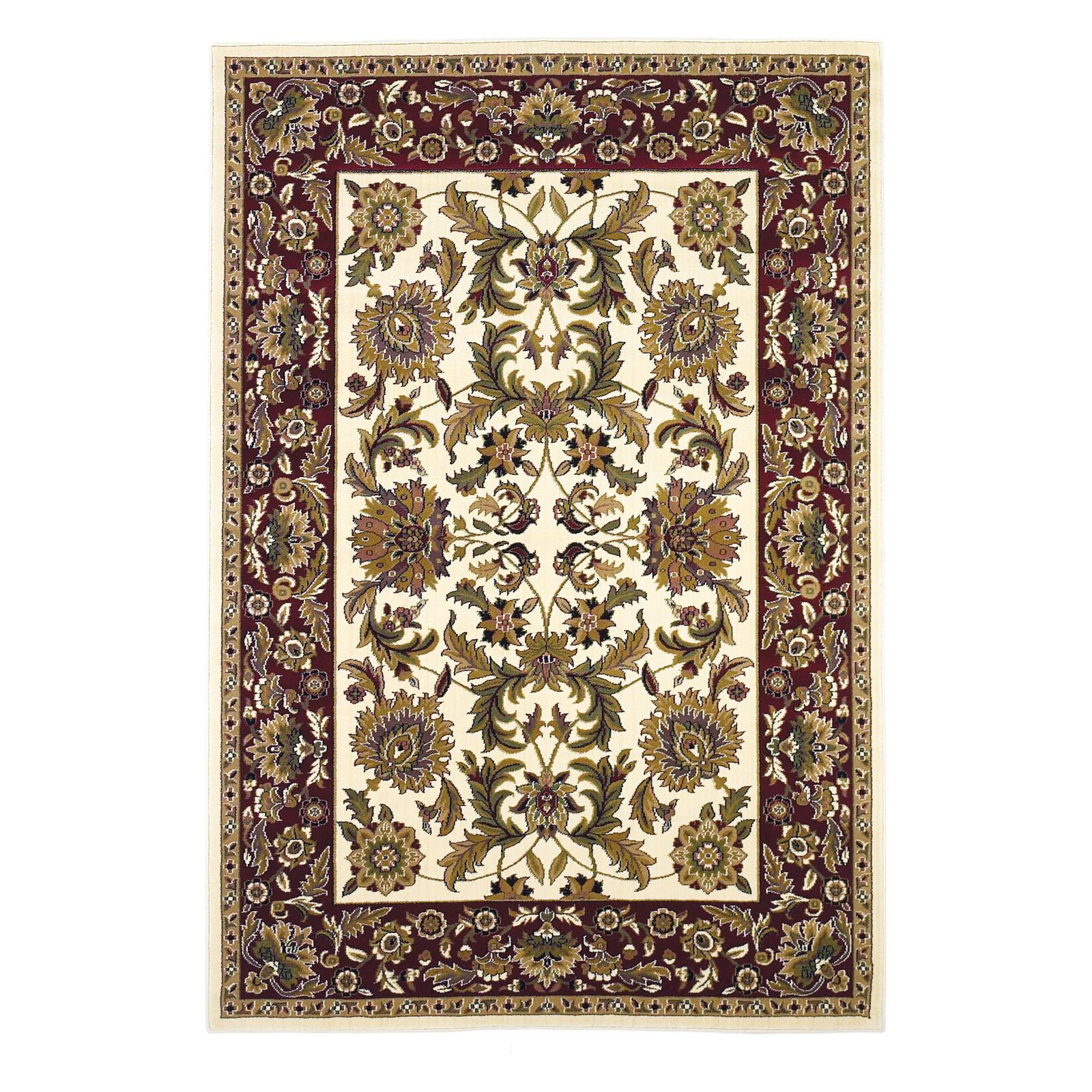 KAS Rugs Cambridge 730 Kashan Area Rug Ivory / Red - CAM7...