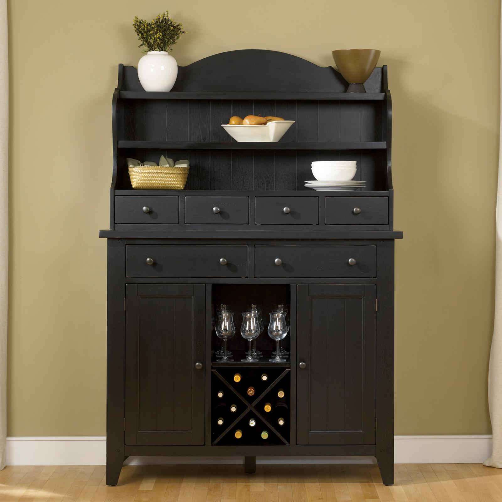Liberty Furniture Industries Hearthstone Dining Server with Optional Hutch Black - 482-DR-SH