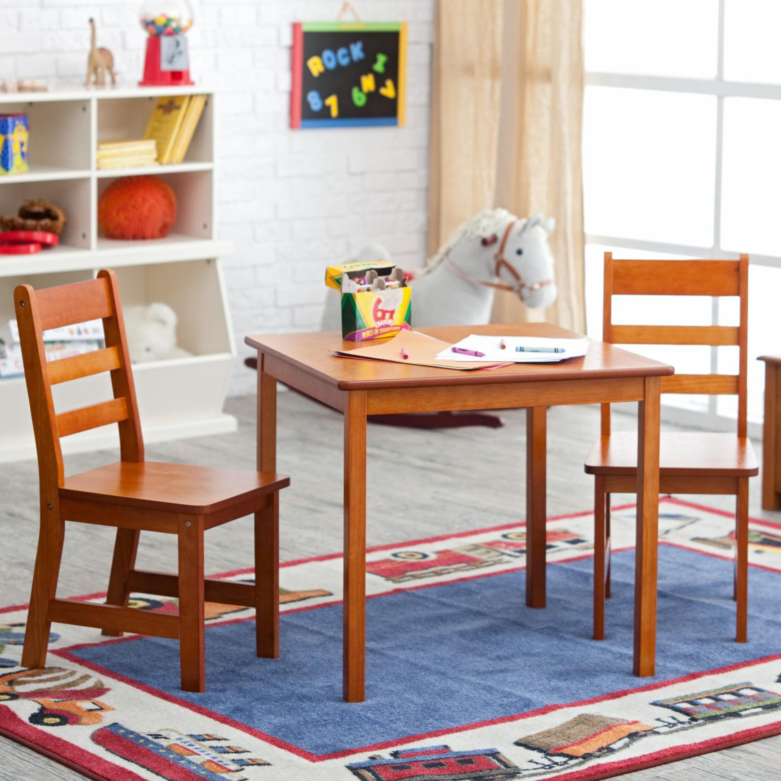 Lipper Childrens Square Table and Chair Set - 514P