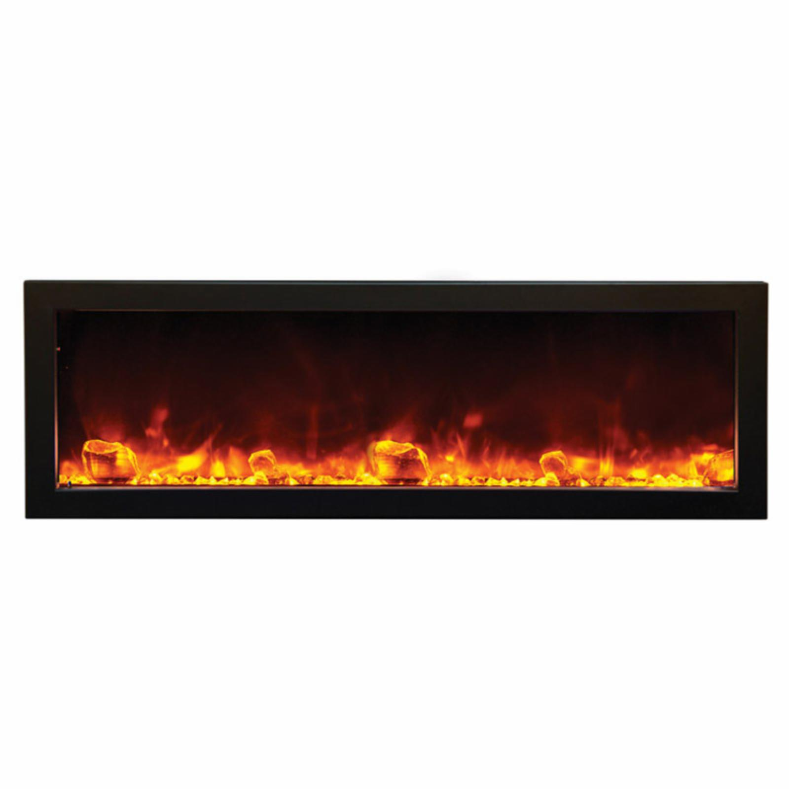 Amantii Panorama Deep Electric Wall Mount Outdoor Fireplace - NED392-2