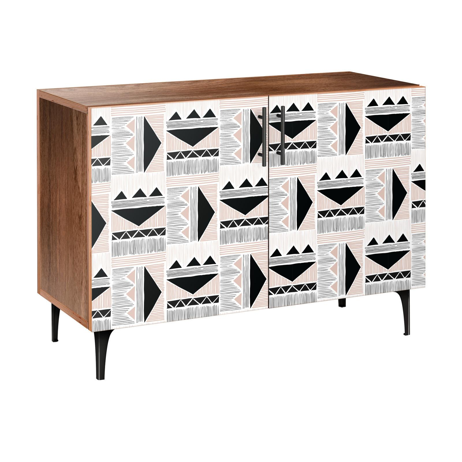 Nyekoncept Mudcloth Print Arc Credenza - 13002627