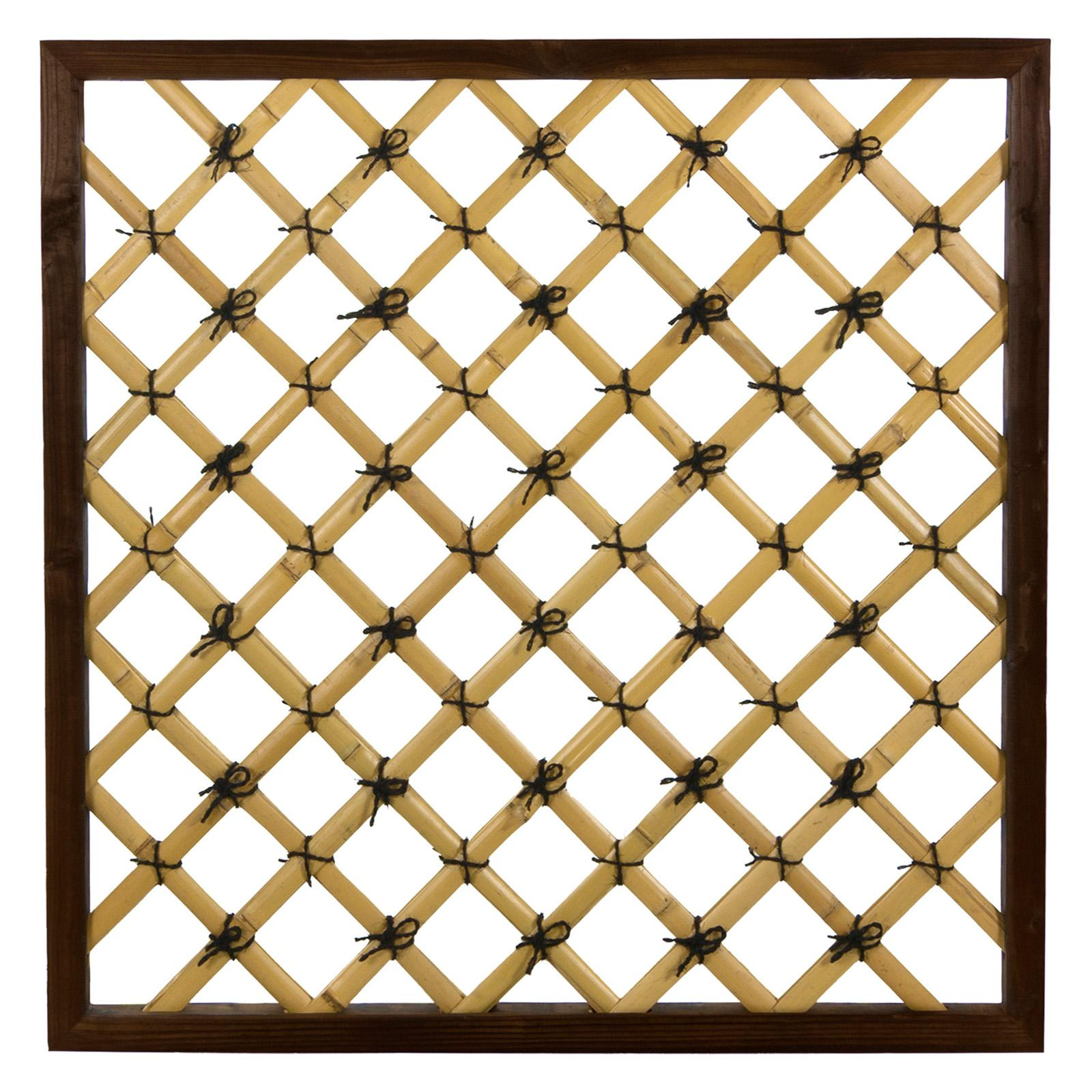 Oriental Furniture Tall Traditional Bamboo Trellis - WD99063BH