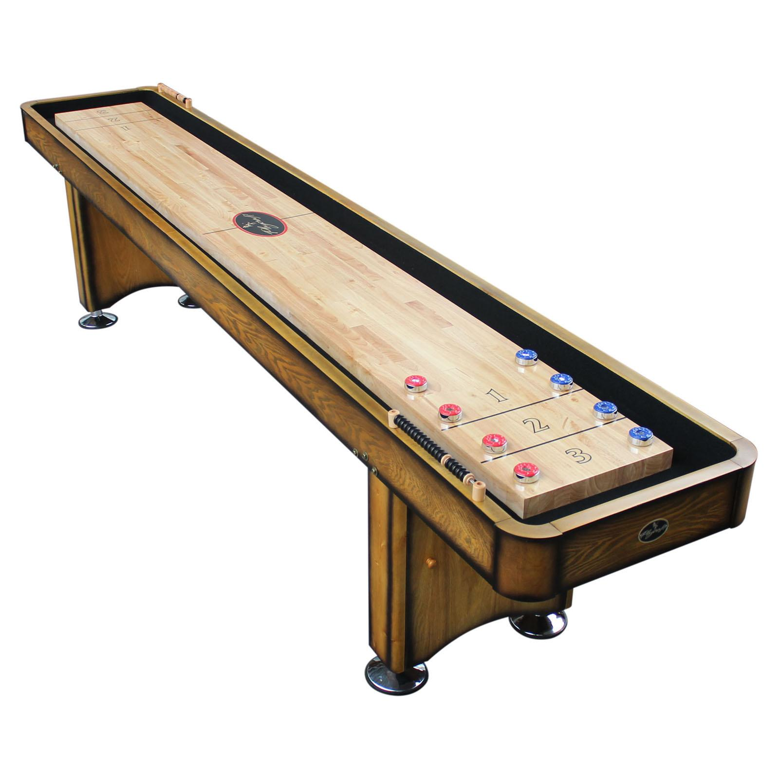 Playcraft Georgetown Shuffleboard Table with 1.75 in. Butcher Block and Climate Adjustment - SHGEHO16