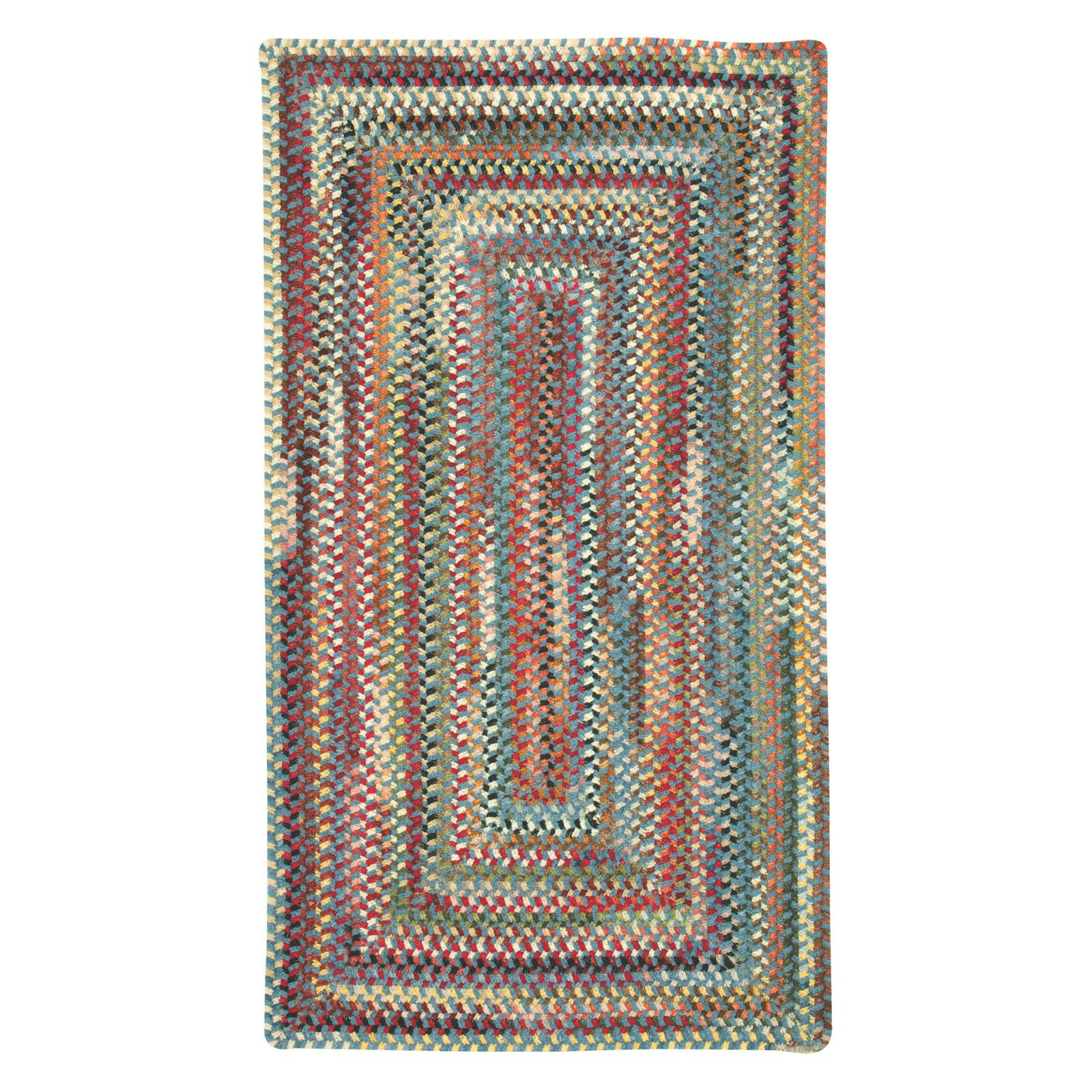 Eaton 0442 Concentric Braided Rectangle Area Rug - Blue Blue - 0442QS04000600400