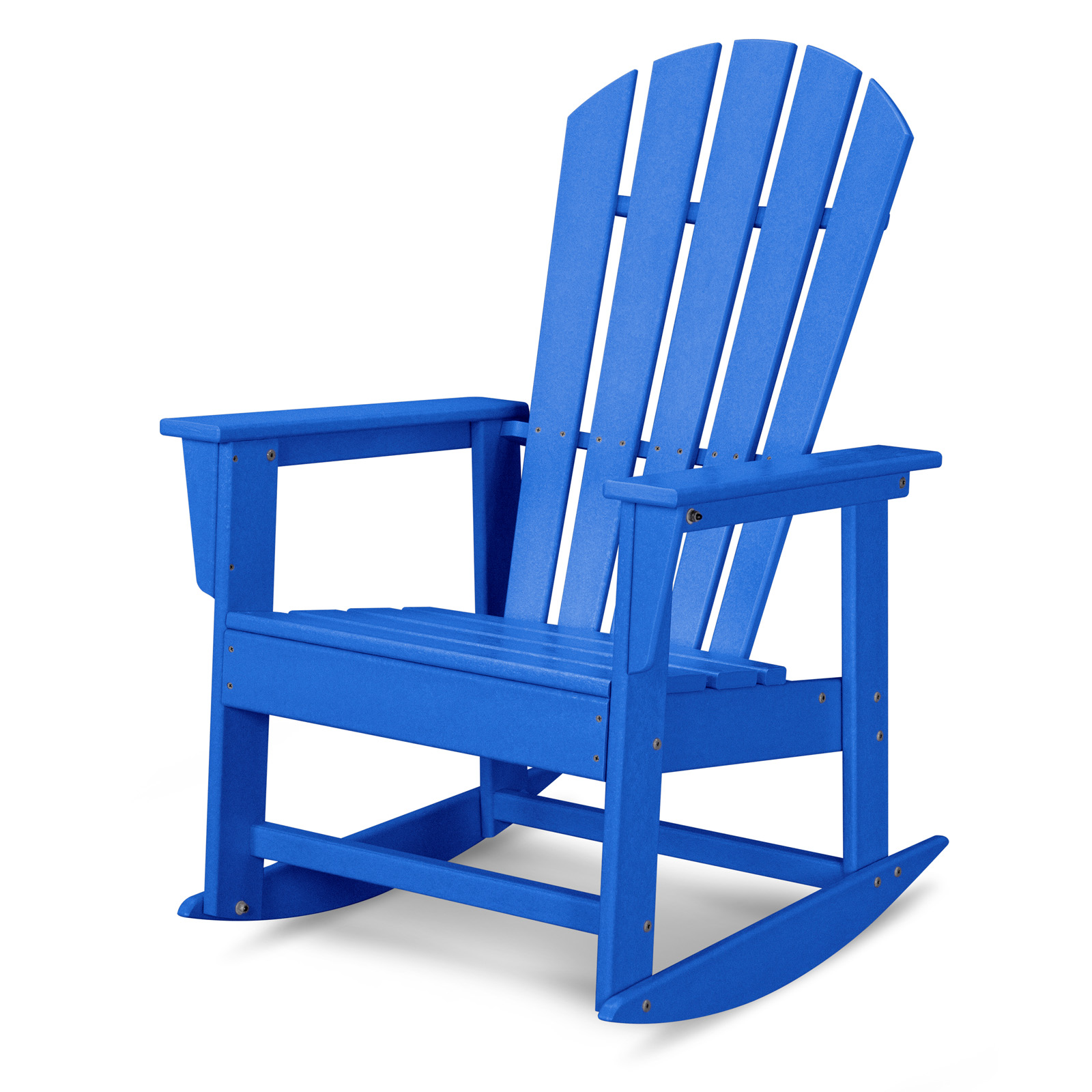 POLYWOOD® South Beach Recycled Plastic Adirondack Rocking Chair | Hayneedle
