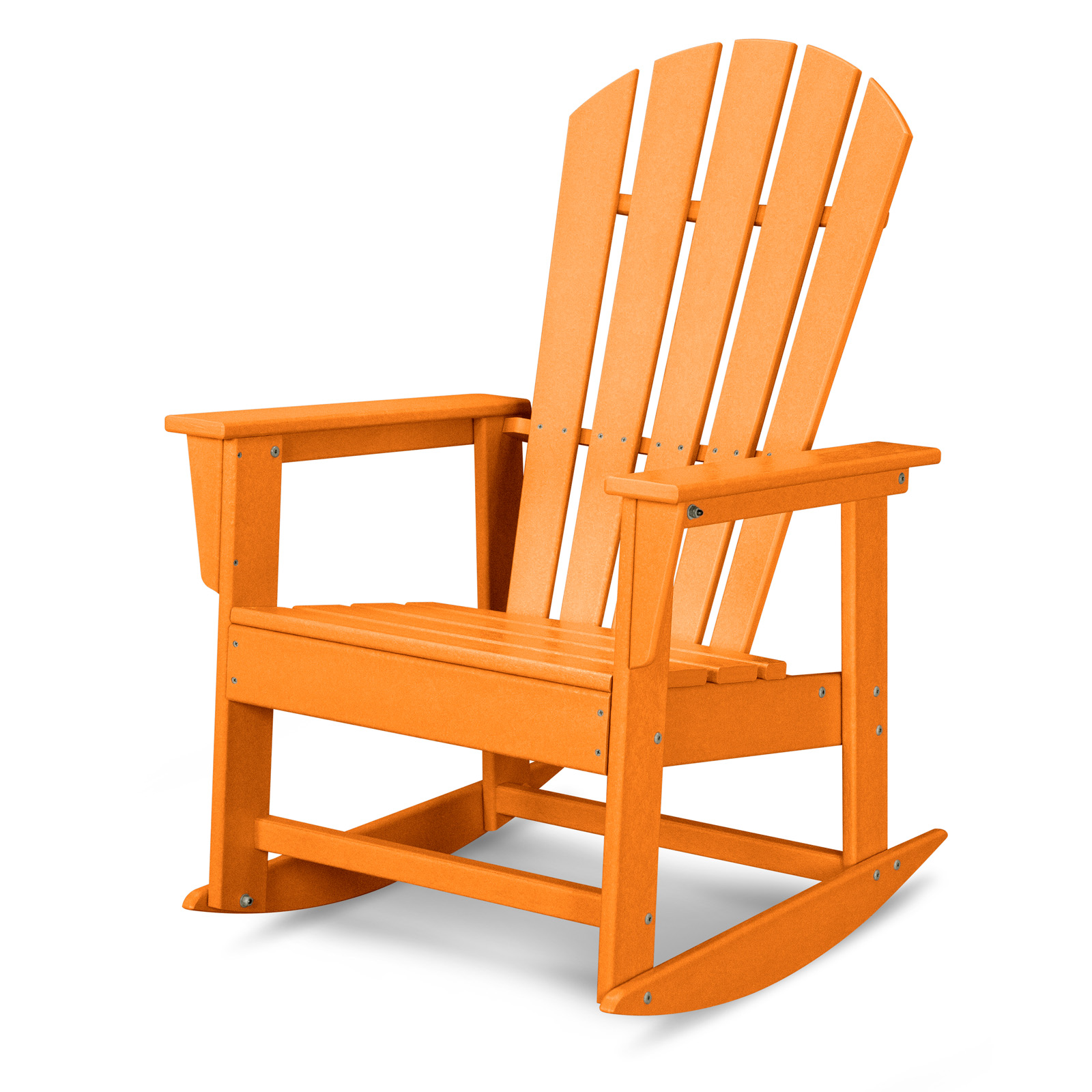 polywood south beach recycled plastic adirondack rocking chair hayneedle