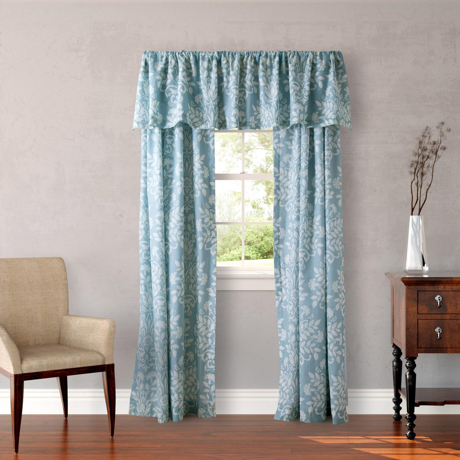 Laura Ashley Rowland 4 Piece Lined Window Panel Set Blue - 209903