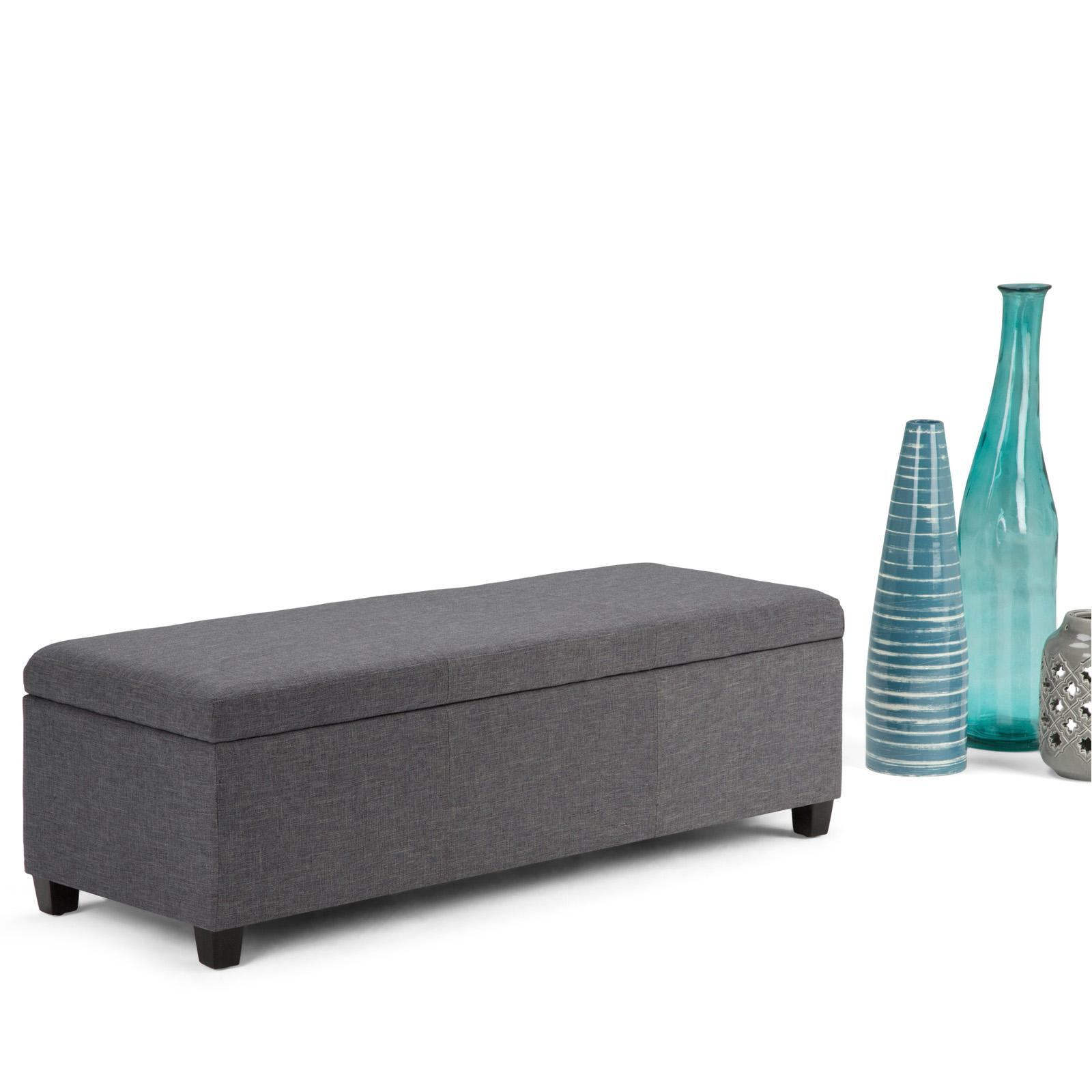 Brooklyn & Max Avalon Linen Storage Bench - AXCF18-GL