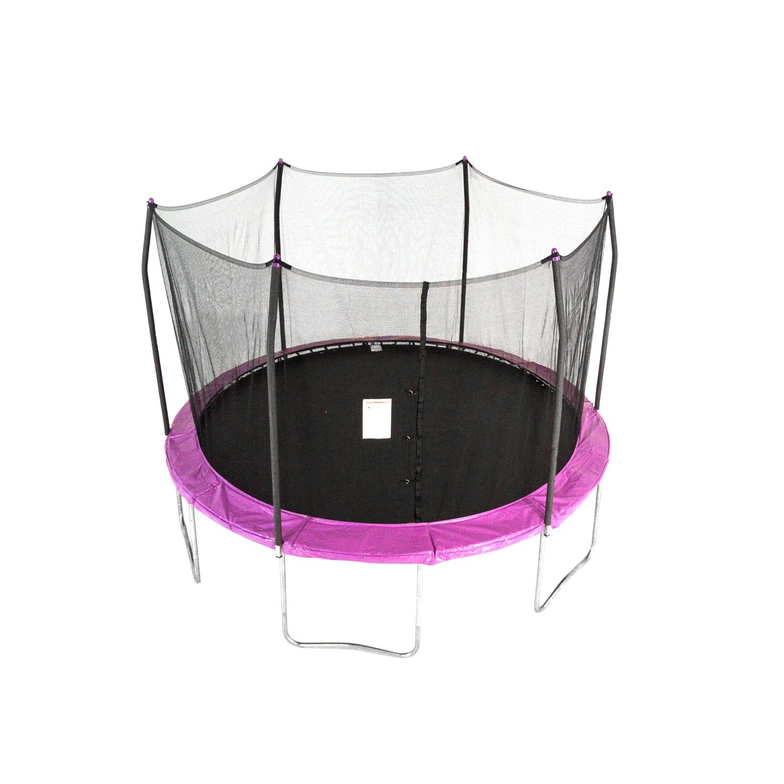 Skywalker 12-ft. Round Trampoline with Enclosure Purple - STEC12P