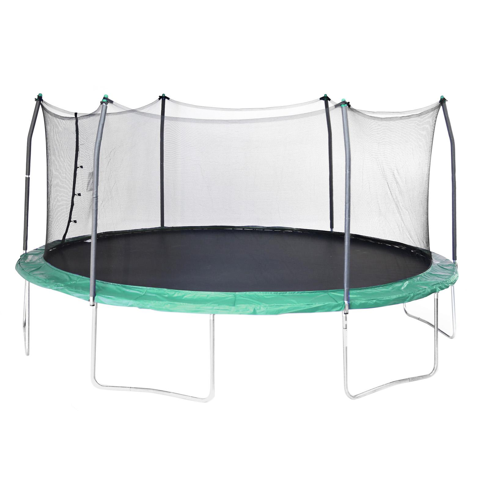 Skywalker Trampolines 17 Ft Oval Trampoline With Safety Enclosure Green Skw069 2