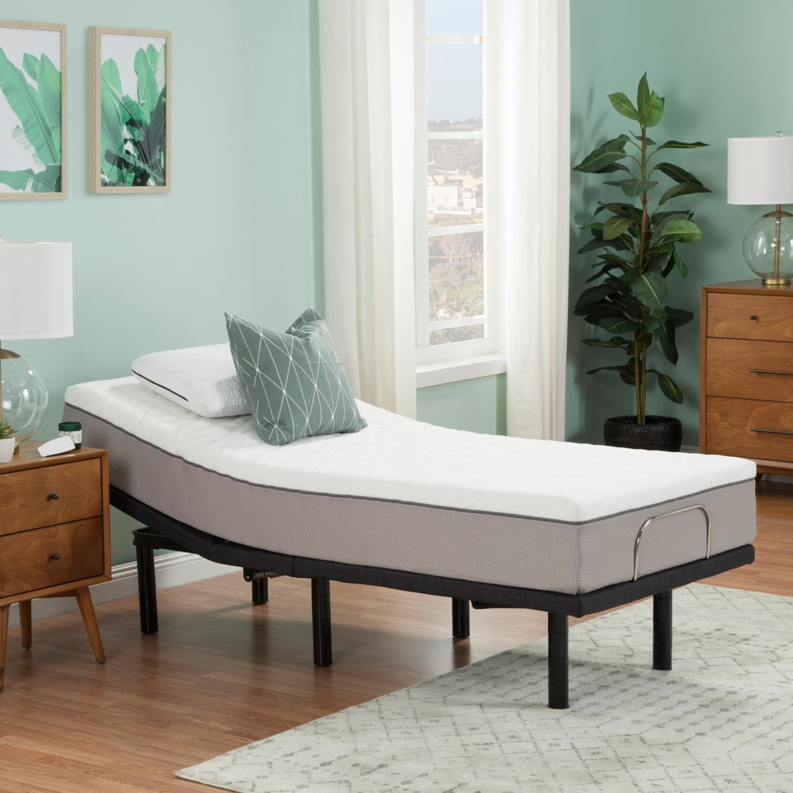 Blissful Nights 10 in. Latex Hybrid Mattress and Adjustable Base Set - 10BNLATEX/BNKD-TL