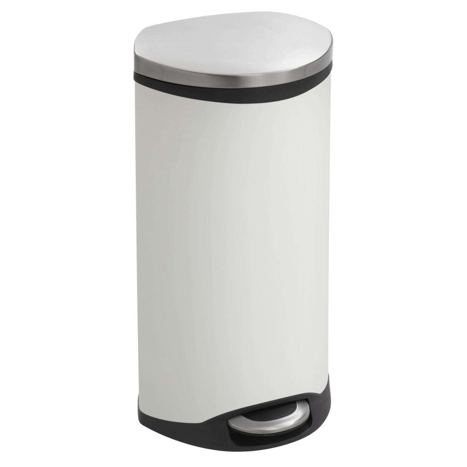 Safco 7.5 Gallon Step-On Trash Can White - 9902WH
