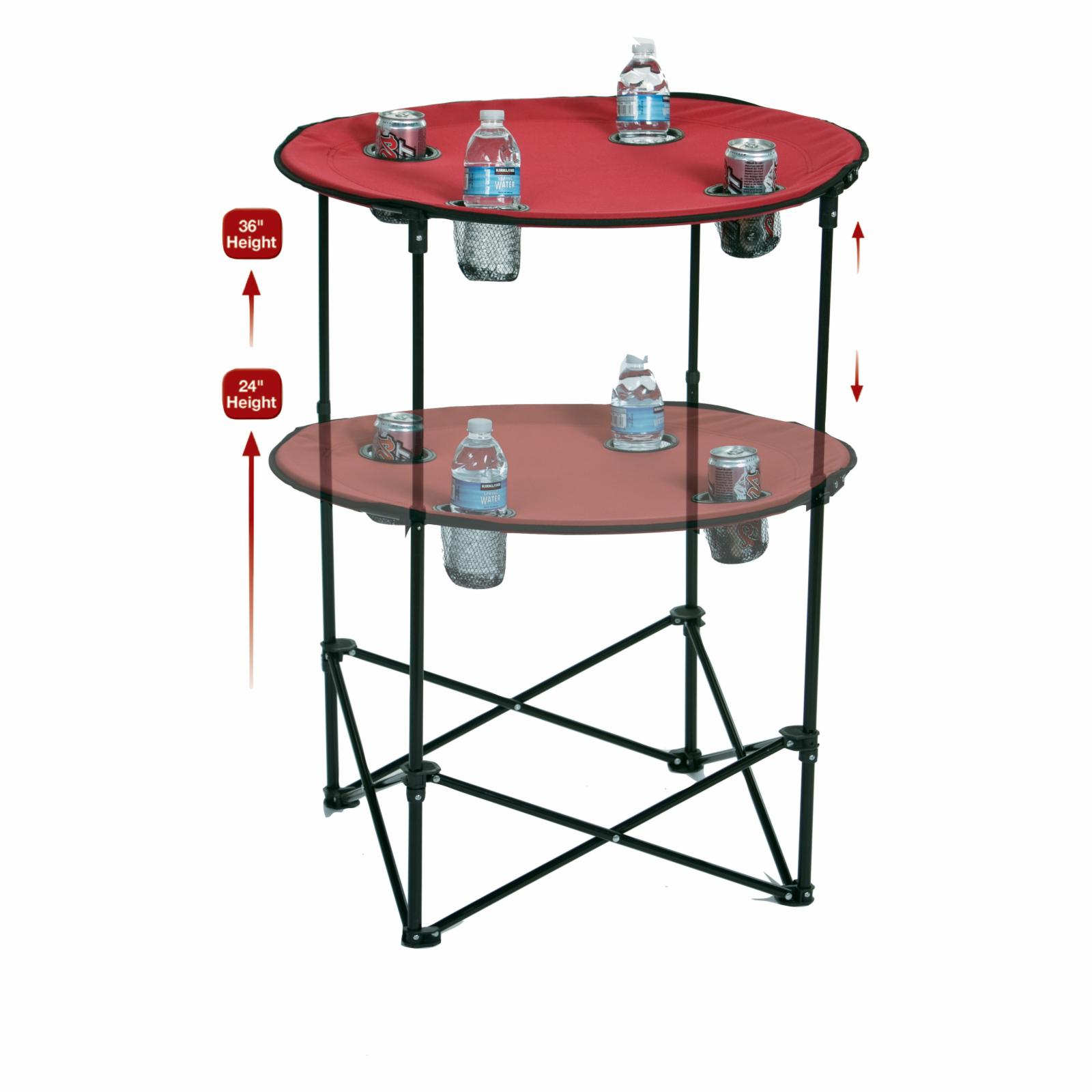 Picnic Plus Scrimmage Tailgate Table Maroon - PSM-104M