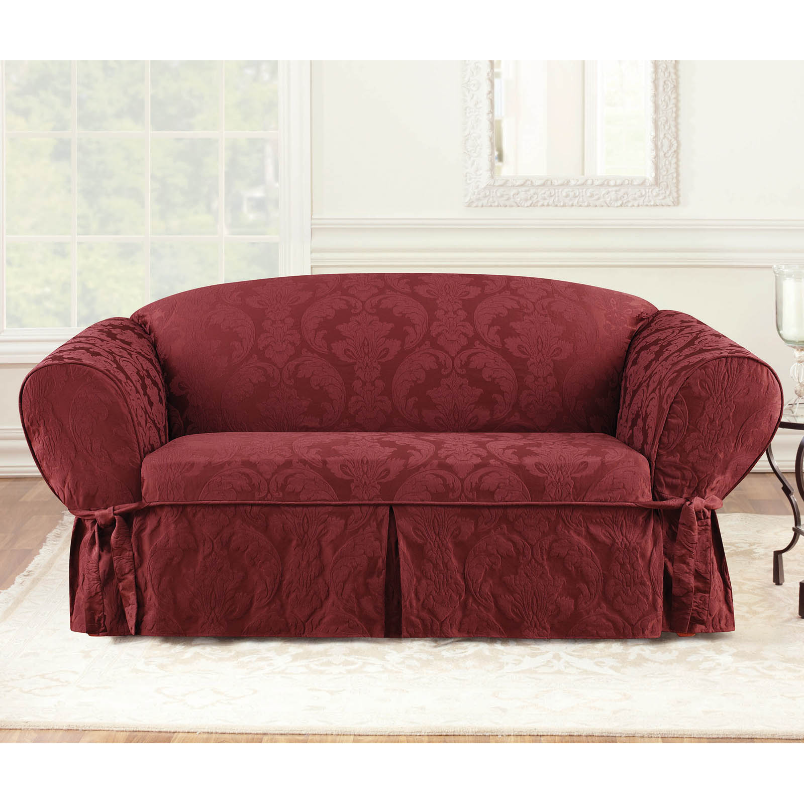 Sure Fit Matelasse Damask Sofa Cover