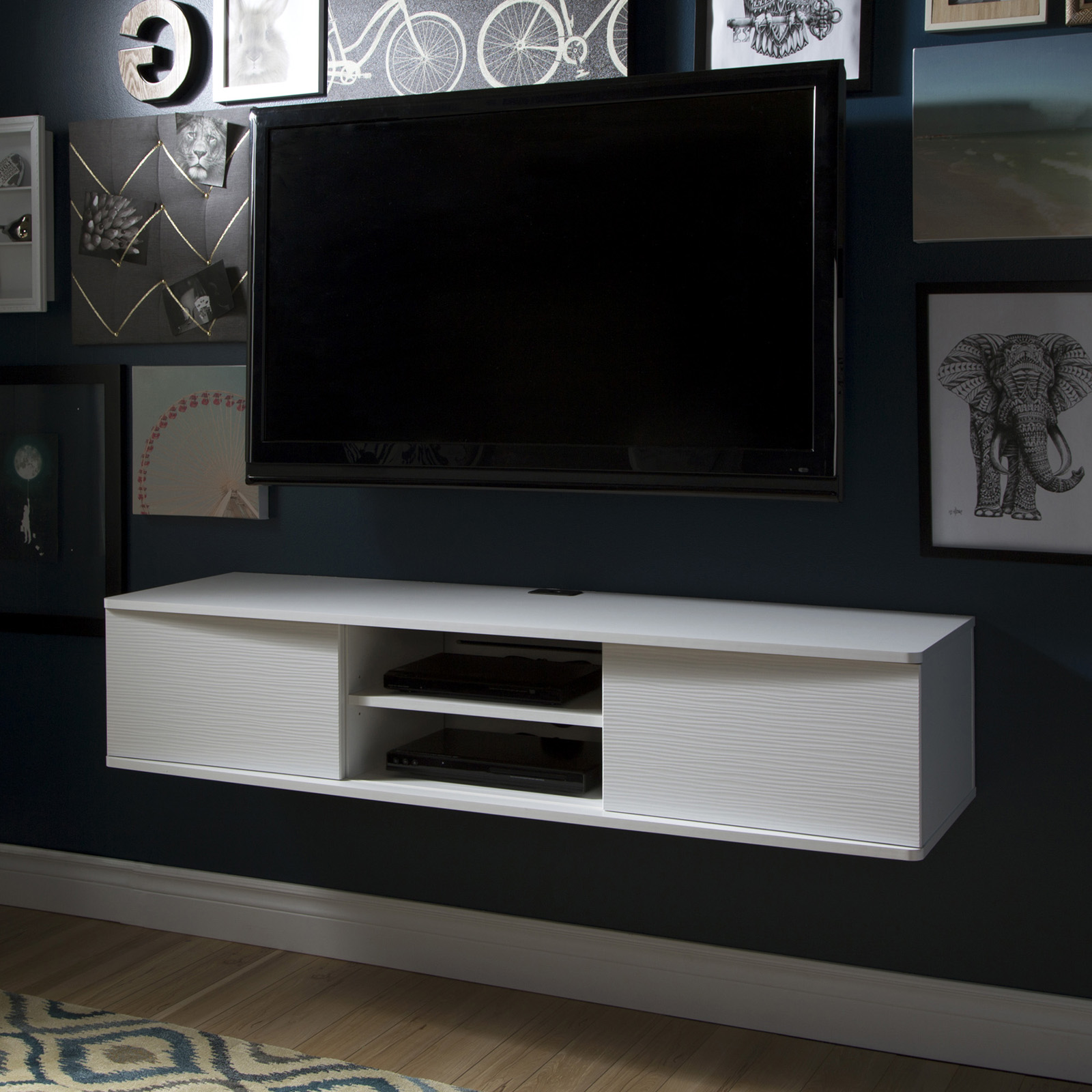 wall mounted media console hayneedle