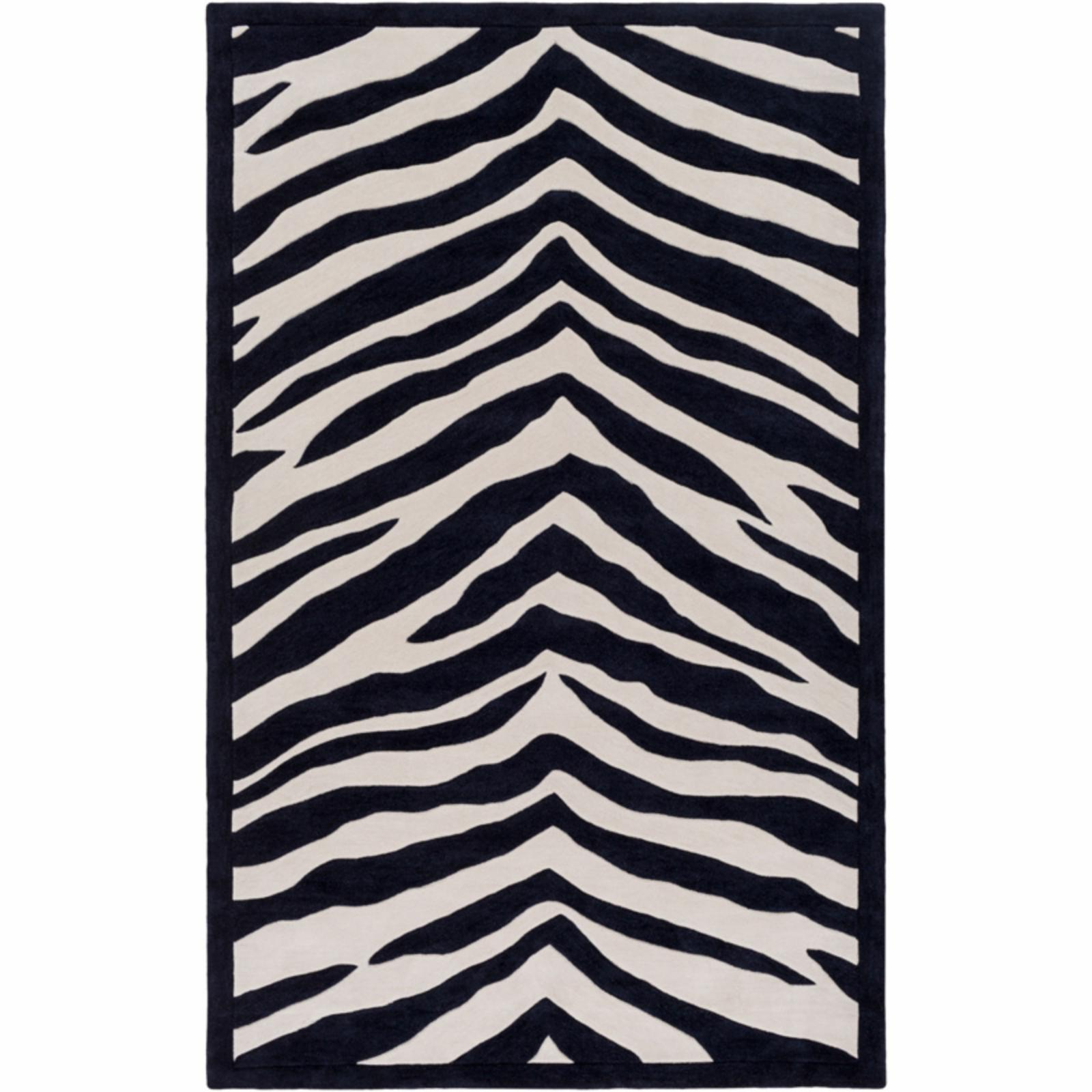 SURYA Leap Frog LPF800 Indoor Area Rug Black / Ivory - LP...