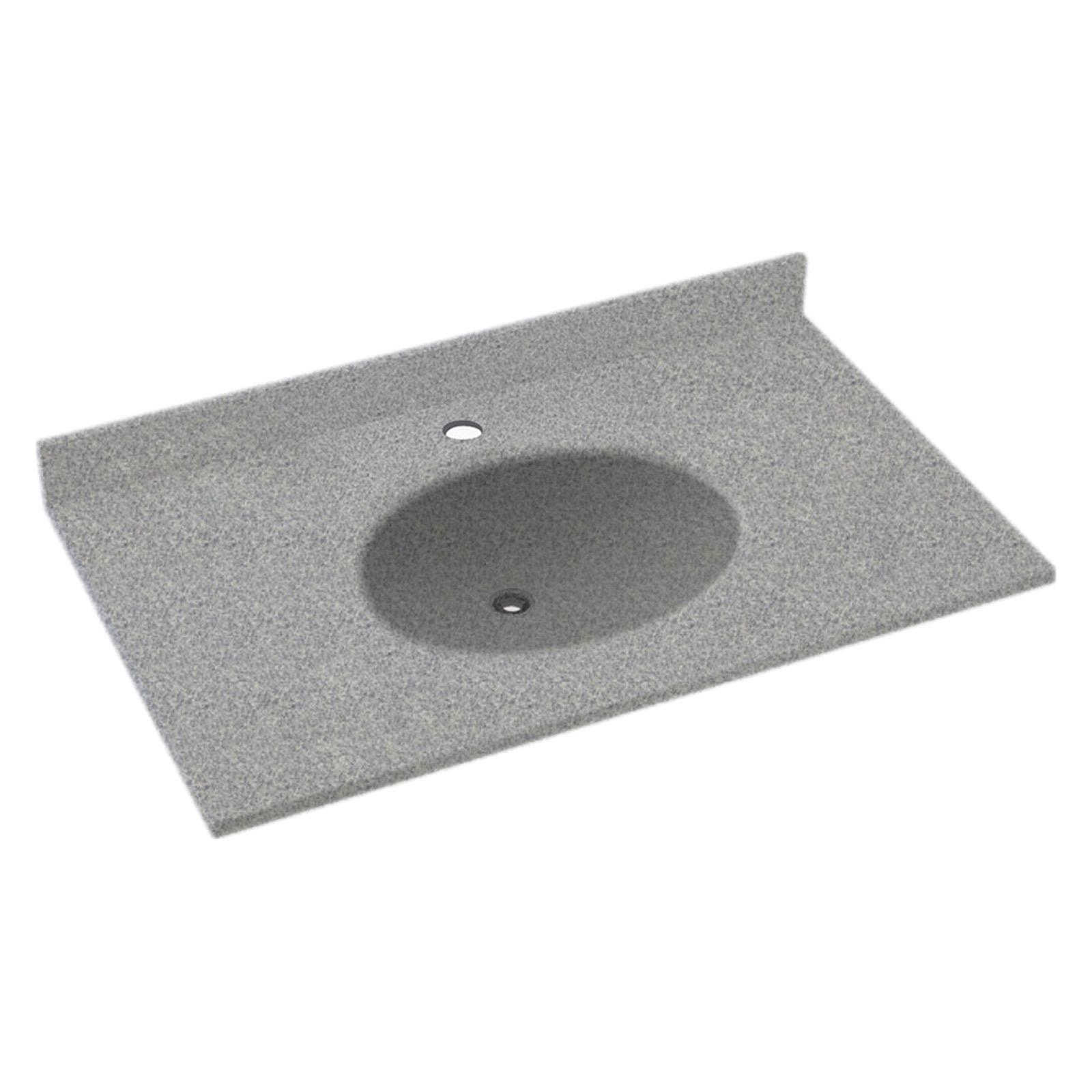 Swanstone 43W x 22D in. Ellipse Solid Surface Vanity Top ...