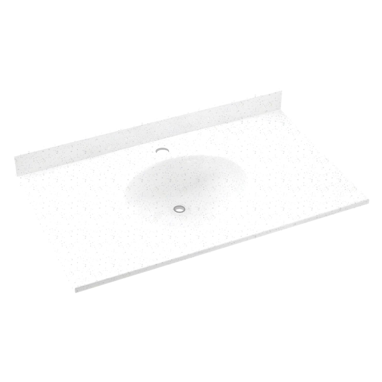 Swanstone 61W x 22D in. Ellipse Solid Surface Vanity Top ...
