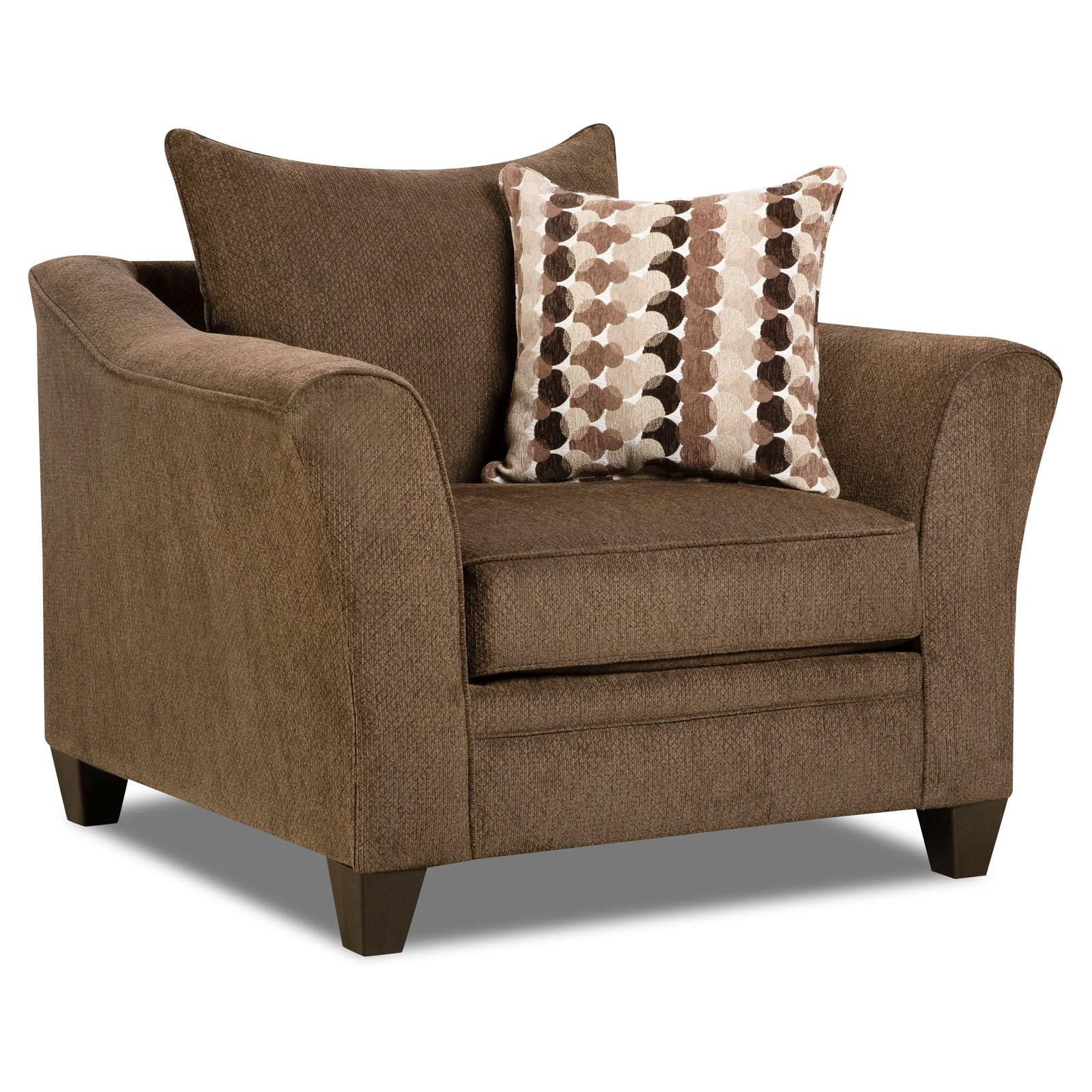 Simmons Upholstery Albany Flared Arm Accent Chair Chestnut - 6485-01 ALBANY CHESTNUT