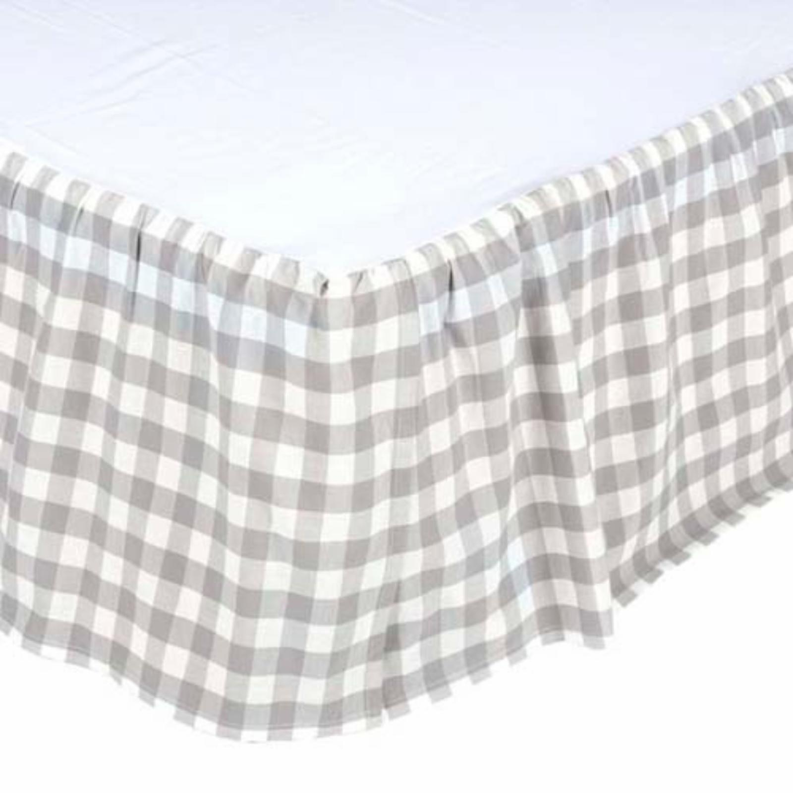 Annie Buffalo Check Bed Skirt by VHC Brands Grey - 40411