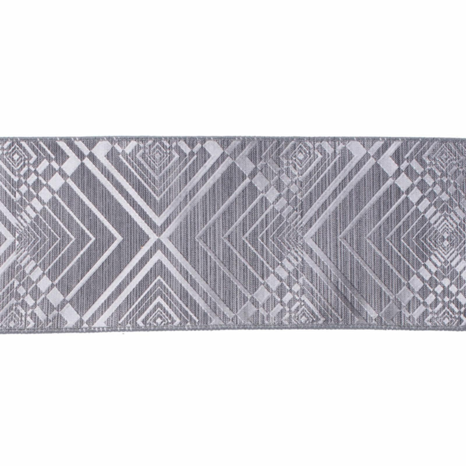 Geometric Jacquard Ribbon with Wired Edge and Matching Ba...