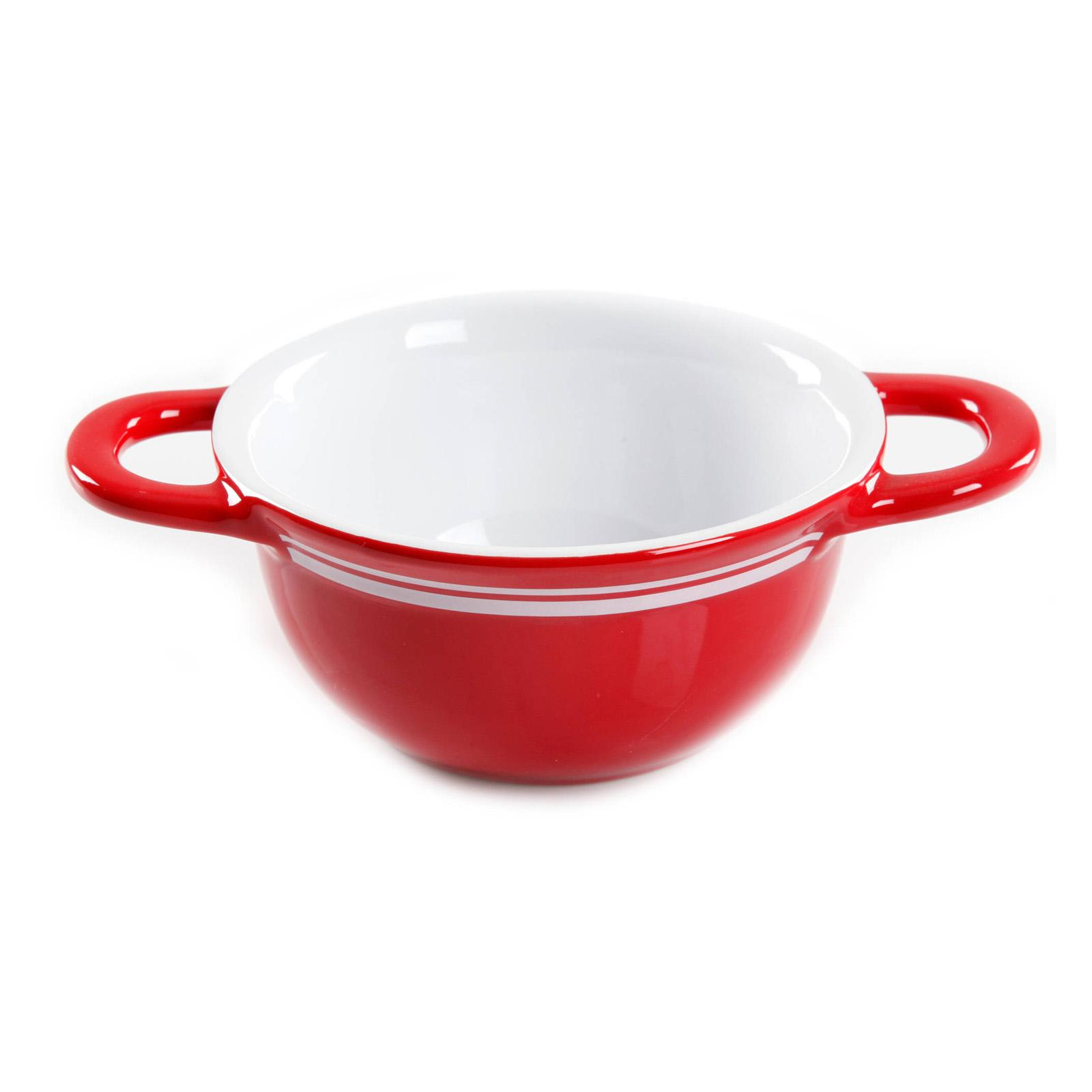 Gibson Home Just Dine Bistro Edge Soup Bowl - Set of 2 Red - 45F87CCAD68E4A72AB929D8CEBC0B8CB
