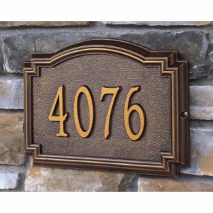 Whitehall Williamsburg 1-line Personalized Address Plaque