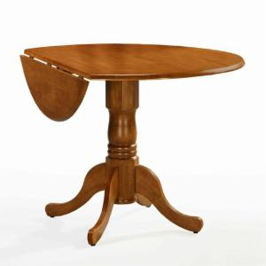 International Concepts Hickory Valley 42 In Round Dual Drop Leaf Pedestal Dining Table