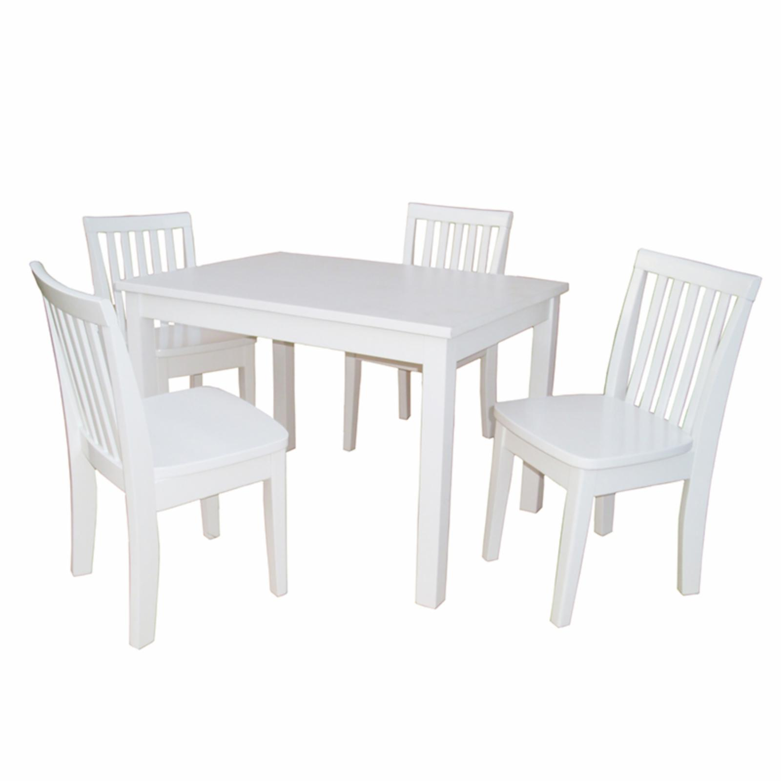 International Concepts Mission Juvenile Table and Chairs Set - White - K08-2532-263-4